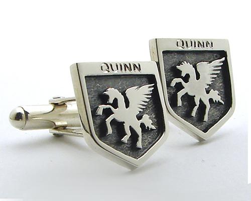 Quinn Family Crest Cufflinks Sterling Silver.jpg