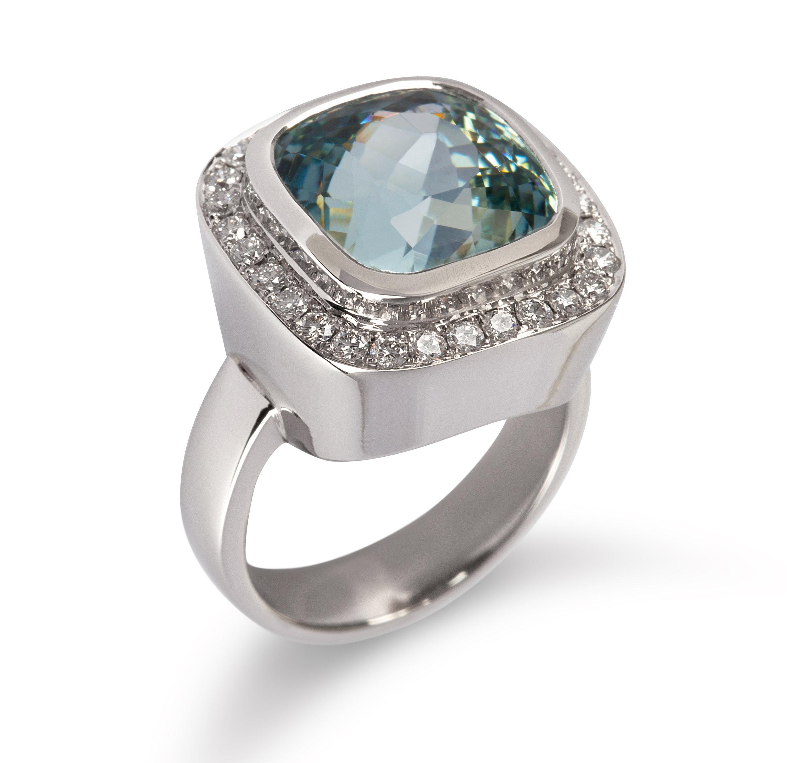 Aquamarine, Diamond, 18ct White Gold Ring Cropped.jpg