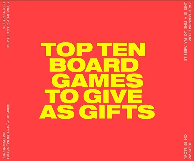 "I would call this a ""holiday gift guide"", but I haven't drank nearly enough pumpkin spice lattes this year to claim that title. Anyways, here are some of my favorite board games that would make great gifts for friends or family this Christmas! I tried to include something for everyone. Flip through my saved stories or tap the link in my bio to read the whole blog post. ✌🏼"