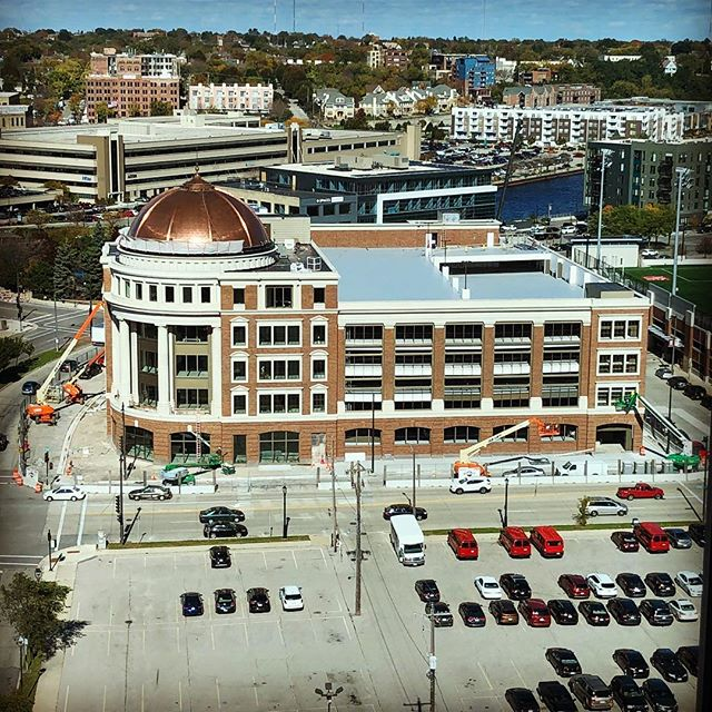 The new downtown headquarters for Hammes Company is nearing completion. #development #realestate #milwaukee #noelrea