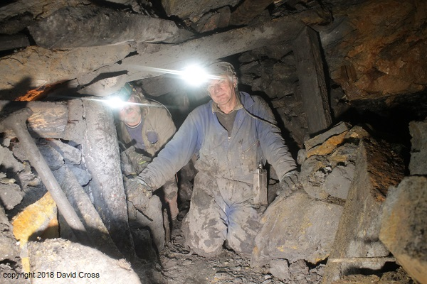 Mike and Phillip, deep in the Coal Mine.