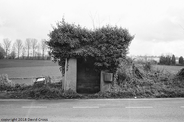 Bus stop, Plump Hill.