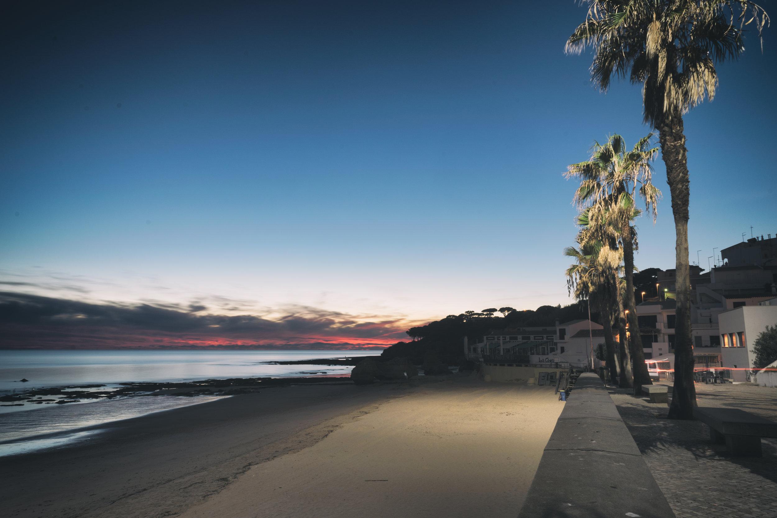 our little beach at sunset.JPG