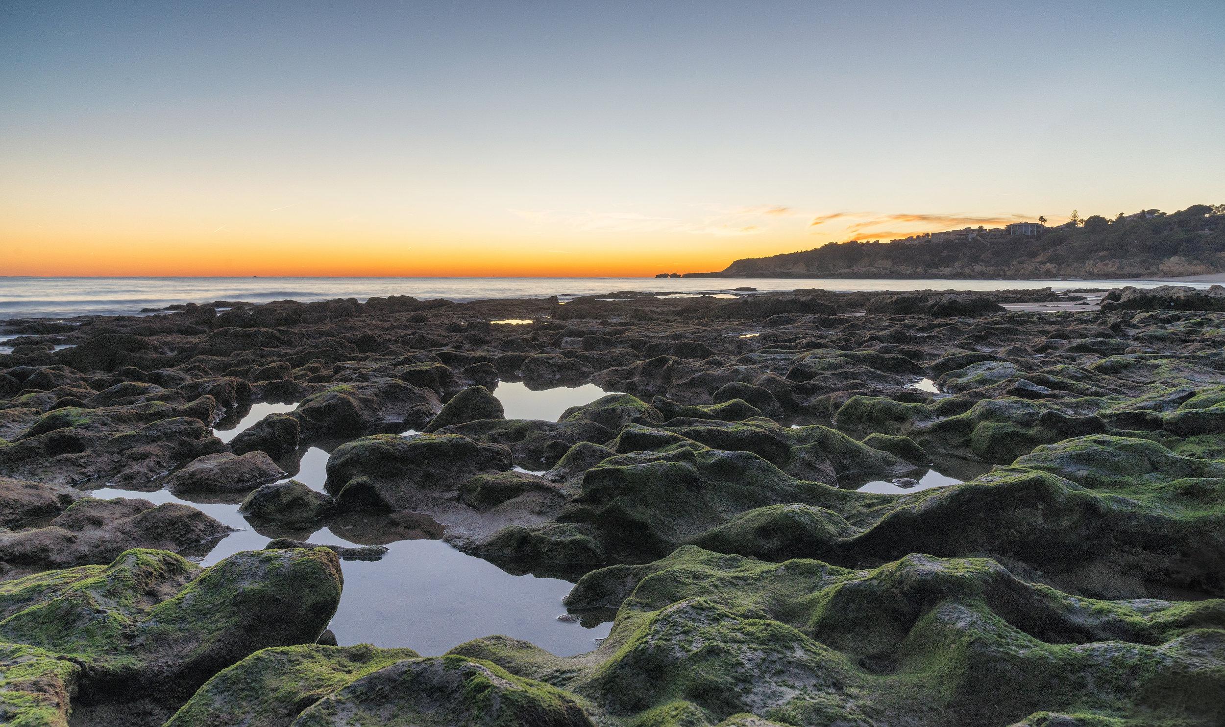 Last of the light on Praia da Oura.JPG