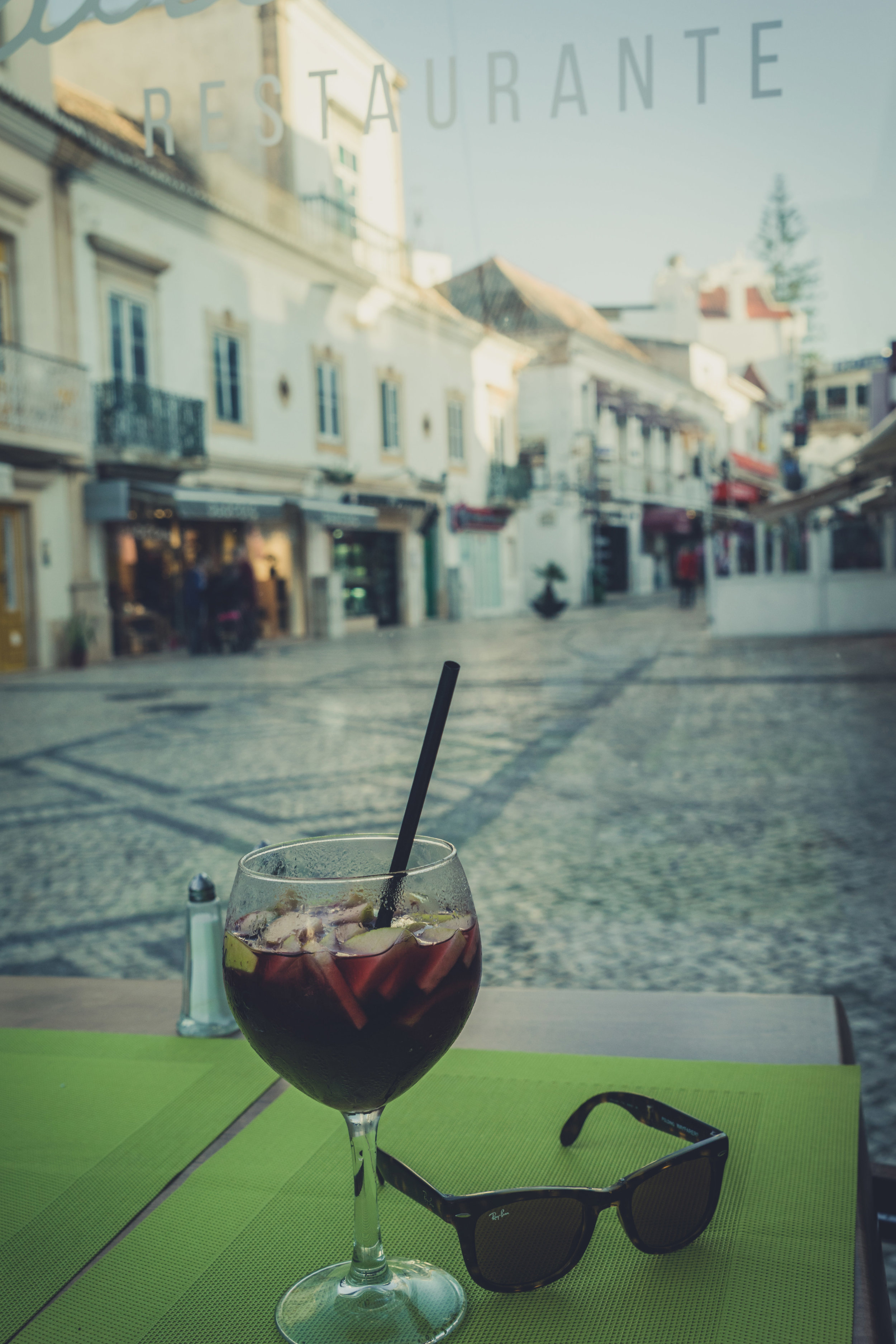 Relax and unwind. sun glasses and sangria. albufeira bar.jpg