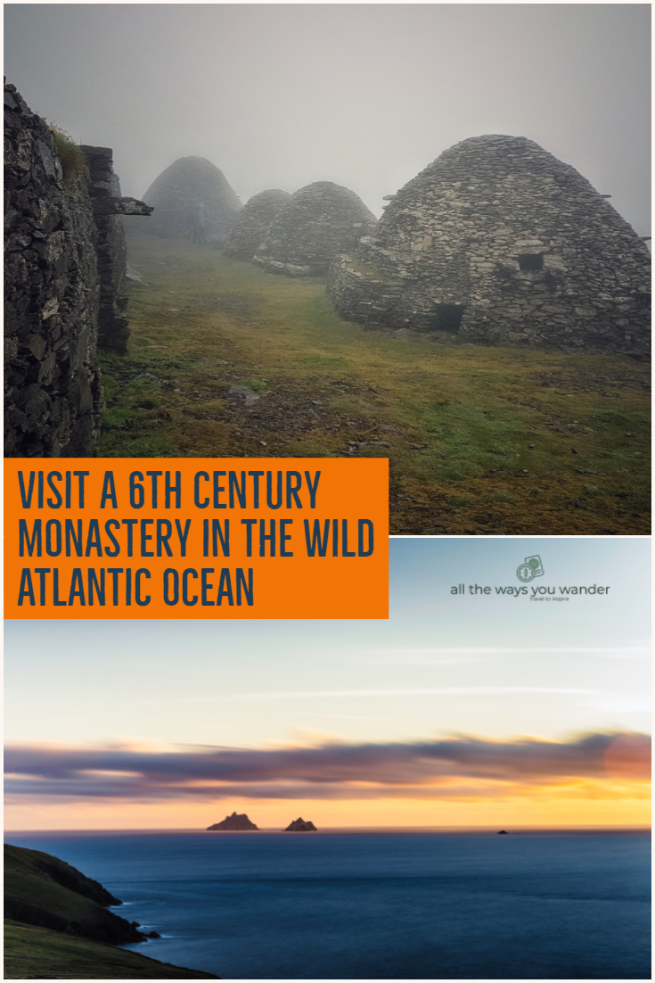 Find out how to get to the Skellig Islands on Ireland's Wild Atlantic Way. Featured in the Star Wars movies, the ancient monastery makes this one of Ireland's highlights #ireland #starwars #ancient