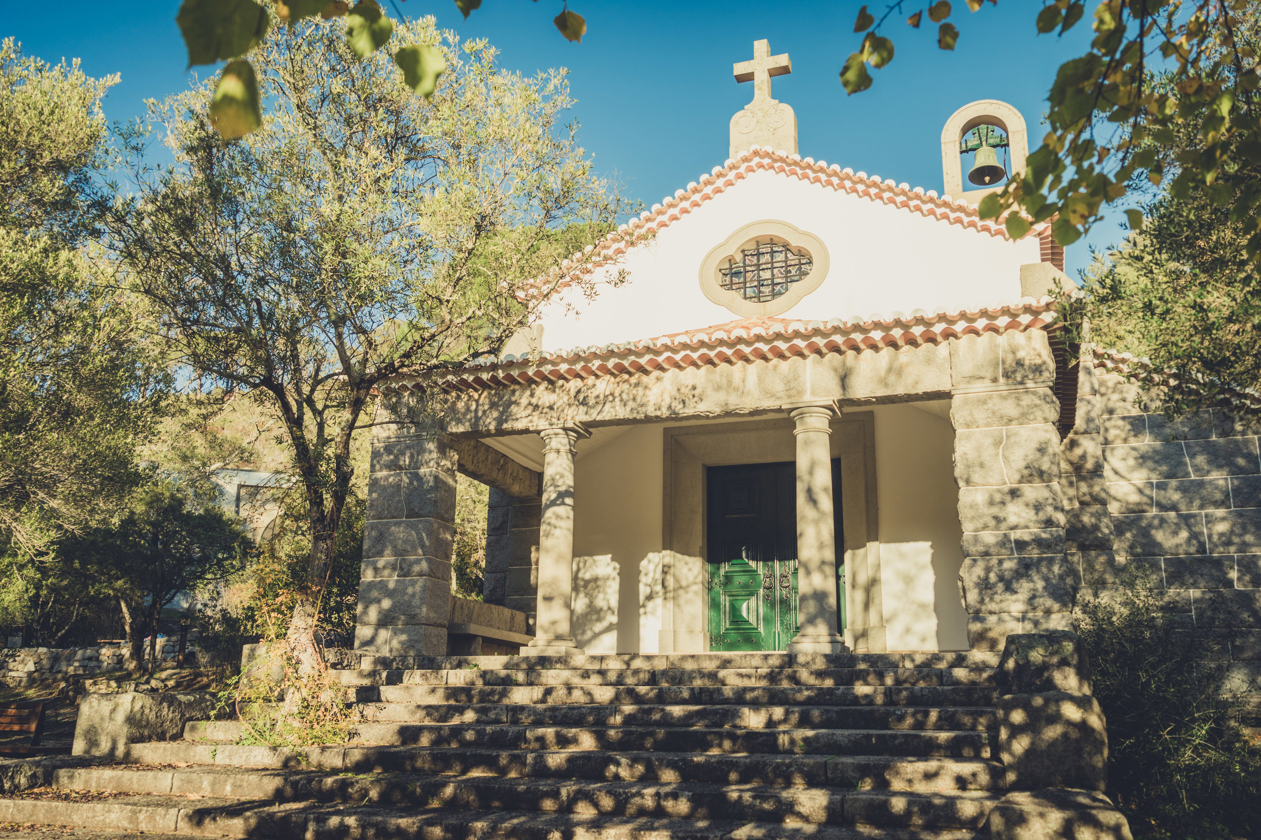 caldas de monchique portugal. walking through the forest. walking through the grounds of the spa. lovely setting. church in the spa town. church..jpg