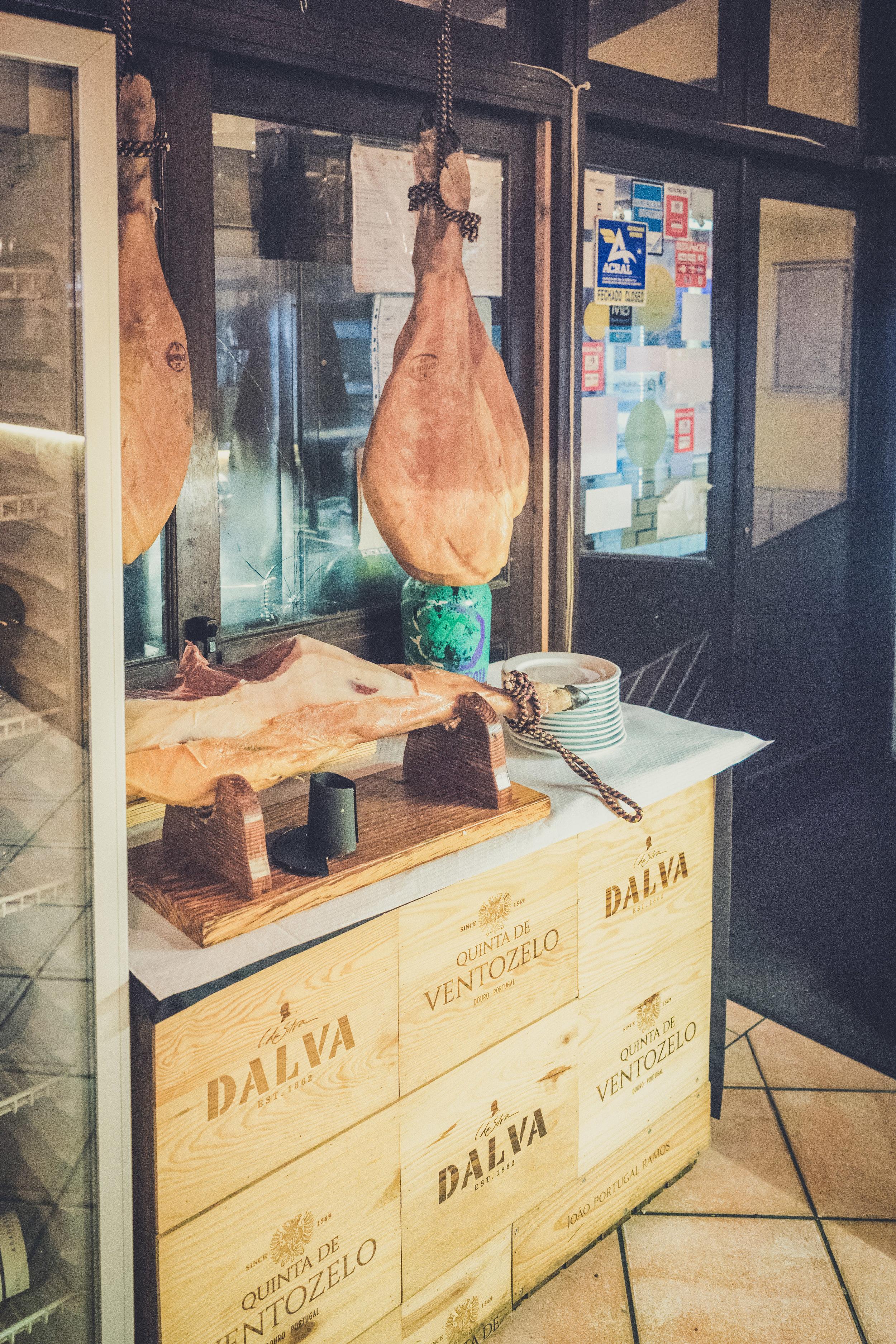 monchique portugal restaurante luar da foia. good food in monchique. fun times. hanging meats. fresh meat.jpg