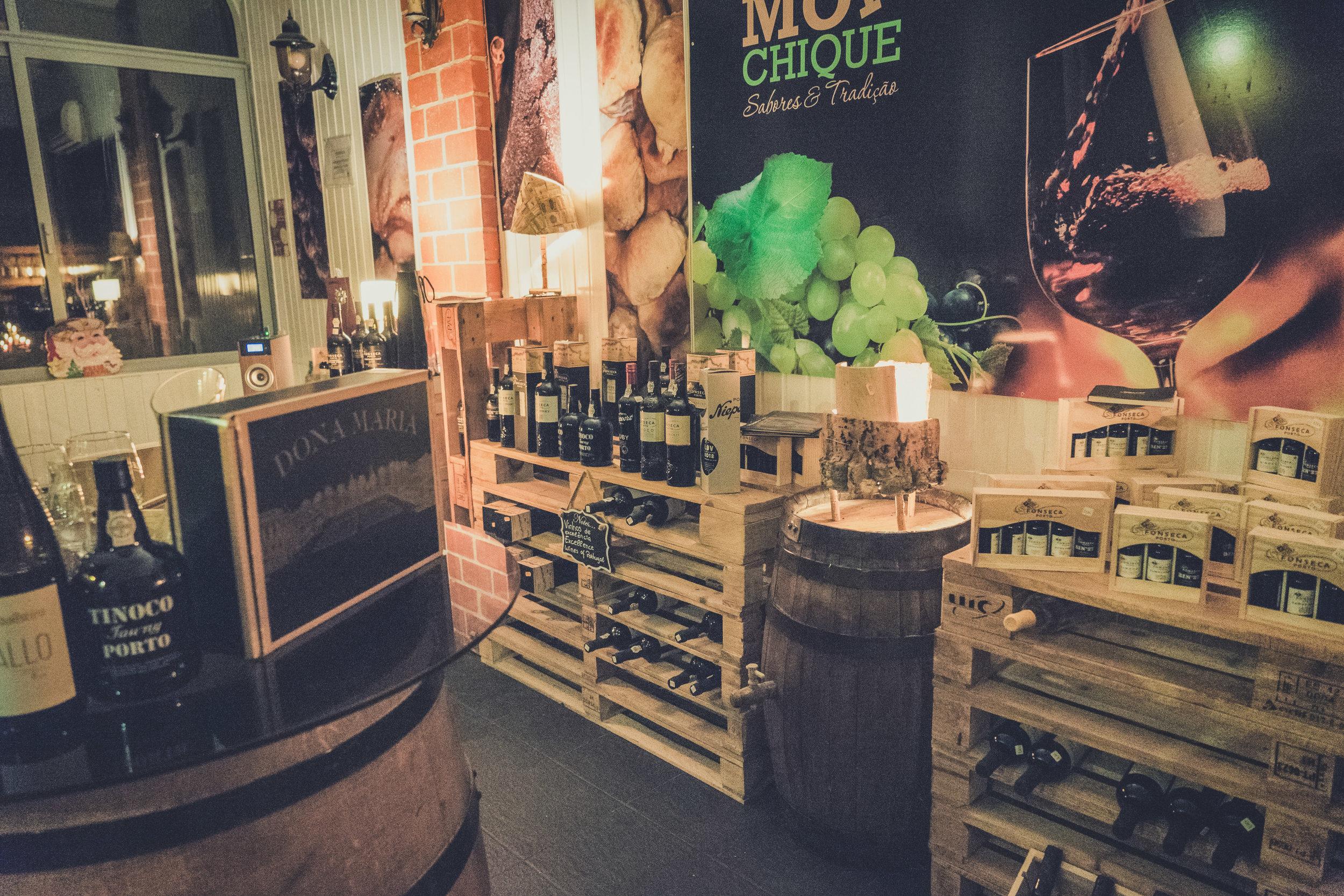 monchique portugal restaurante luar da foia. good food in monchique. fun times. wine celler. port celler. wine shop. great wine.jpg
