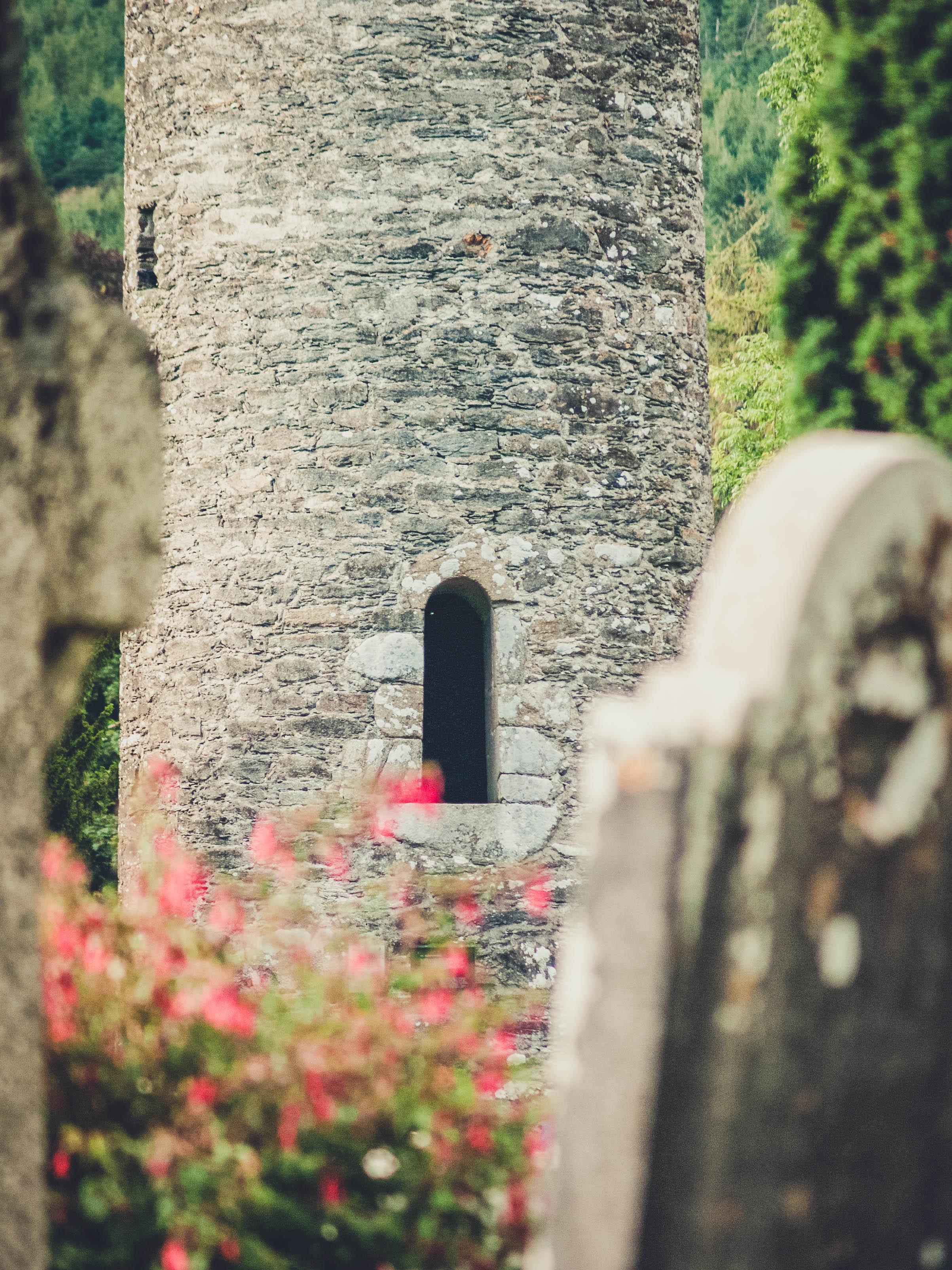 glendalough. irish history. county wicklow. round tower. hill walknig. hiking. grave yard. wildlife. tombstones. lakes. blue sky. little hole.jpg