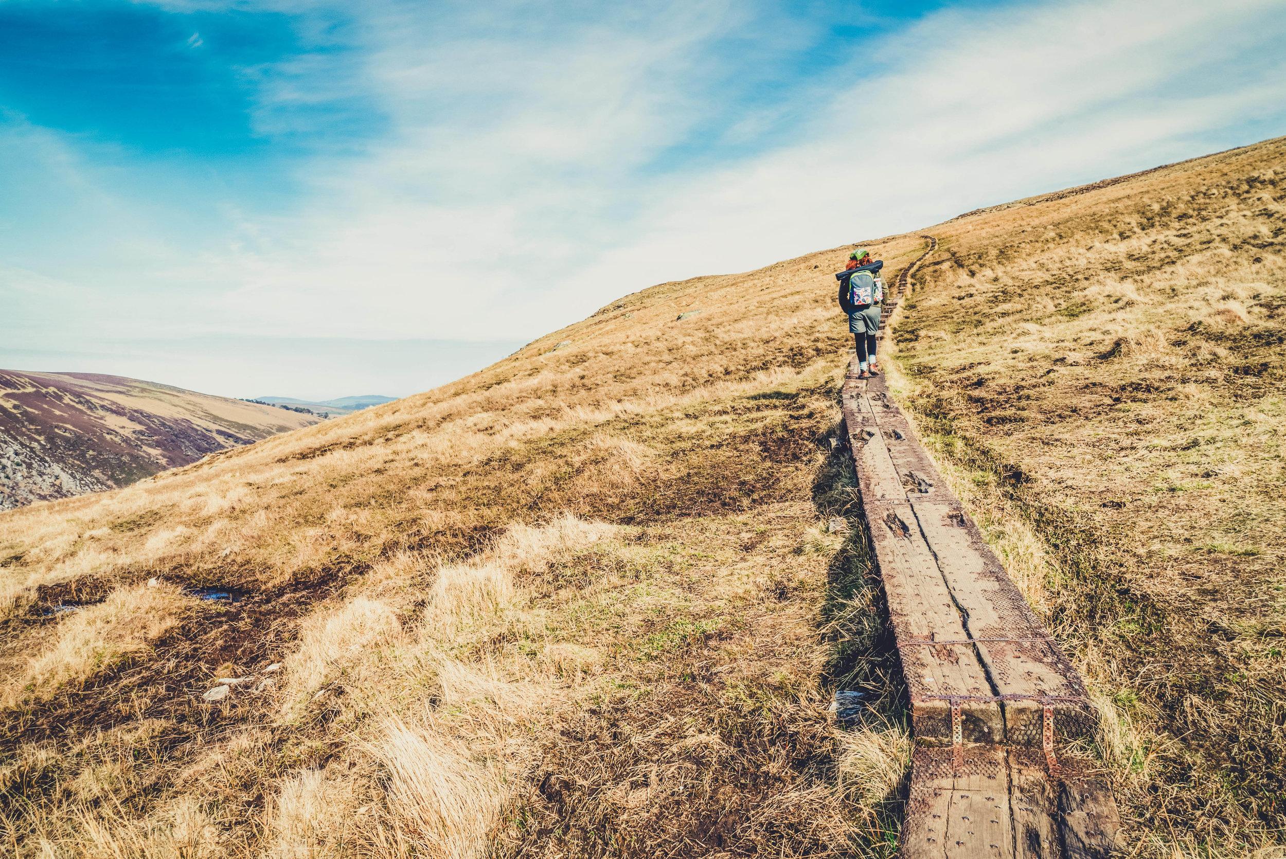 glendalough. irish history. county wicklow. round tower. hill walknig. hiking. grave yard. wildlife. tombstones. lakes. blue sky. following the trail.jpg