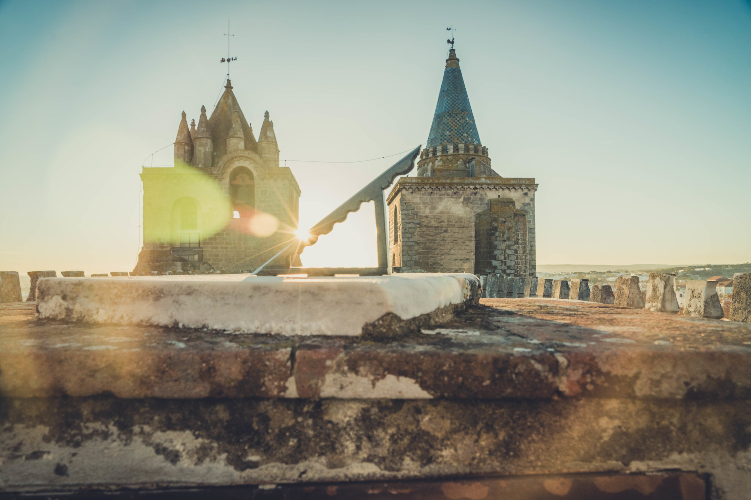 Evora. Roman Ruins. Portugal. Alentejo. Piliers. Roman city. ancient roman town. Blue sky. travel. adventure. history. historical. wine. architecture. sun dial.jpg