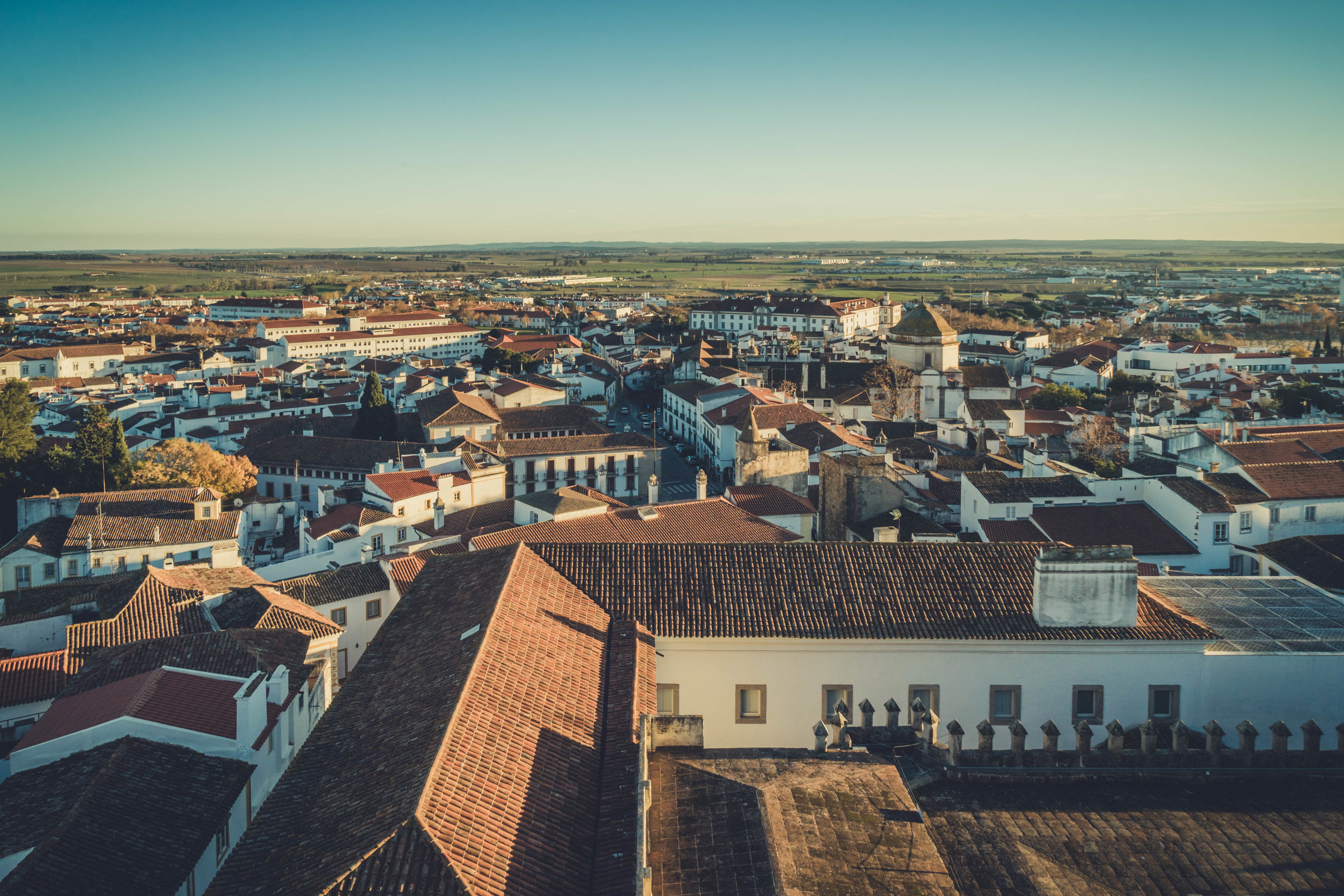 Evora. Roman Ruins. Portugal. Alentejo. Piliers. Roman city. ancient roman town. Blue sky. travel. adventure. history. historical. wine. over looking the town.jpg