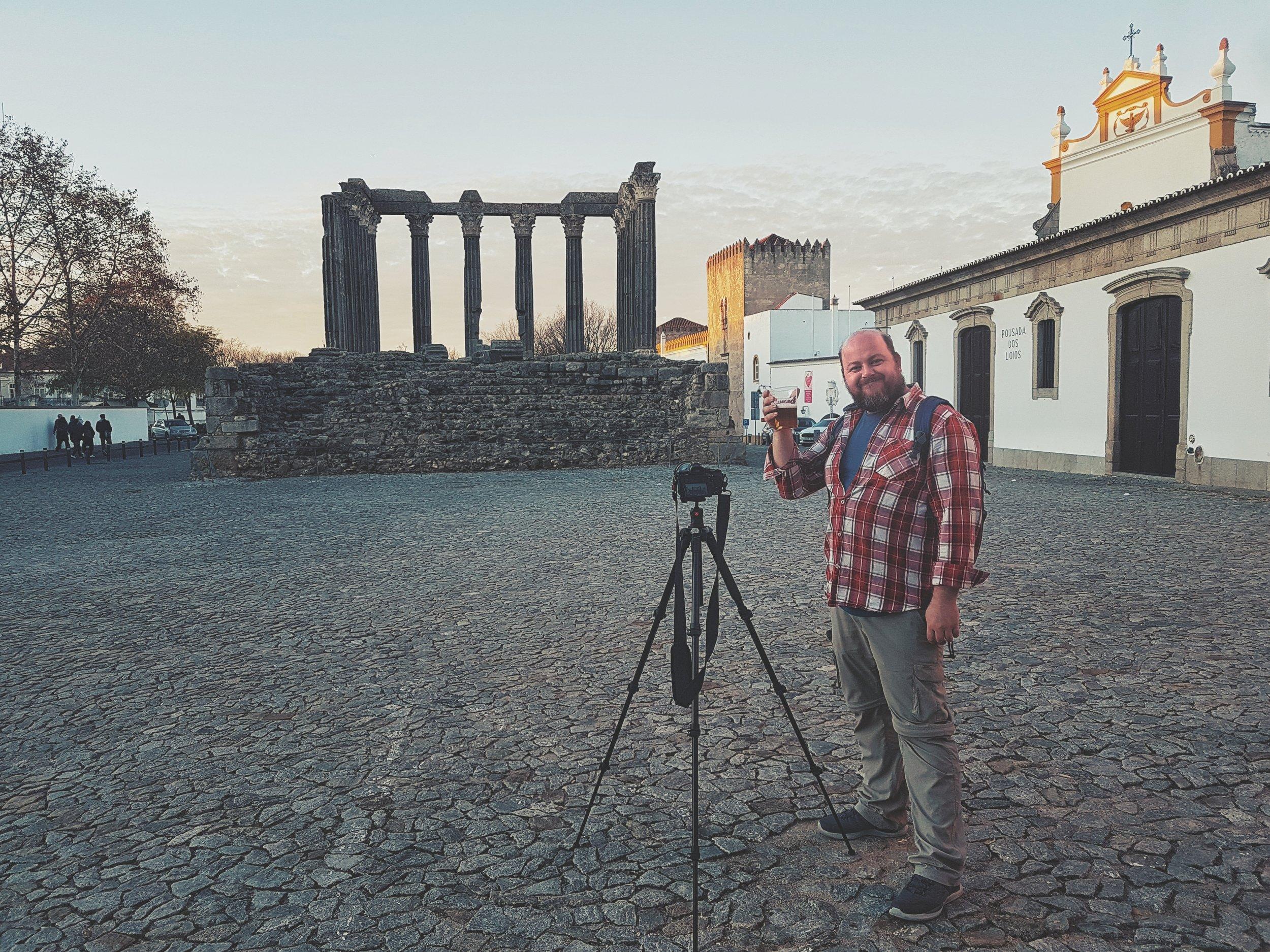 Evora. Roman Ruins. Portugal. Alentejo. Piliers. Roman city. ancient roman town. Blue sky. travel. adventure. history. historical. wine. architecture..jpg