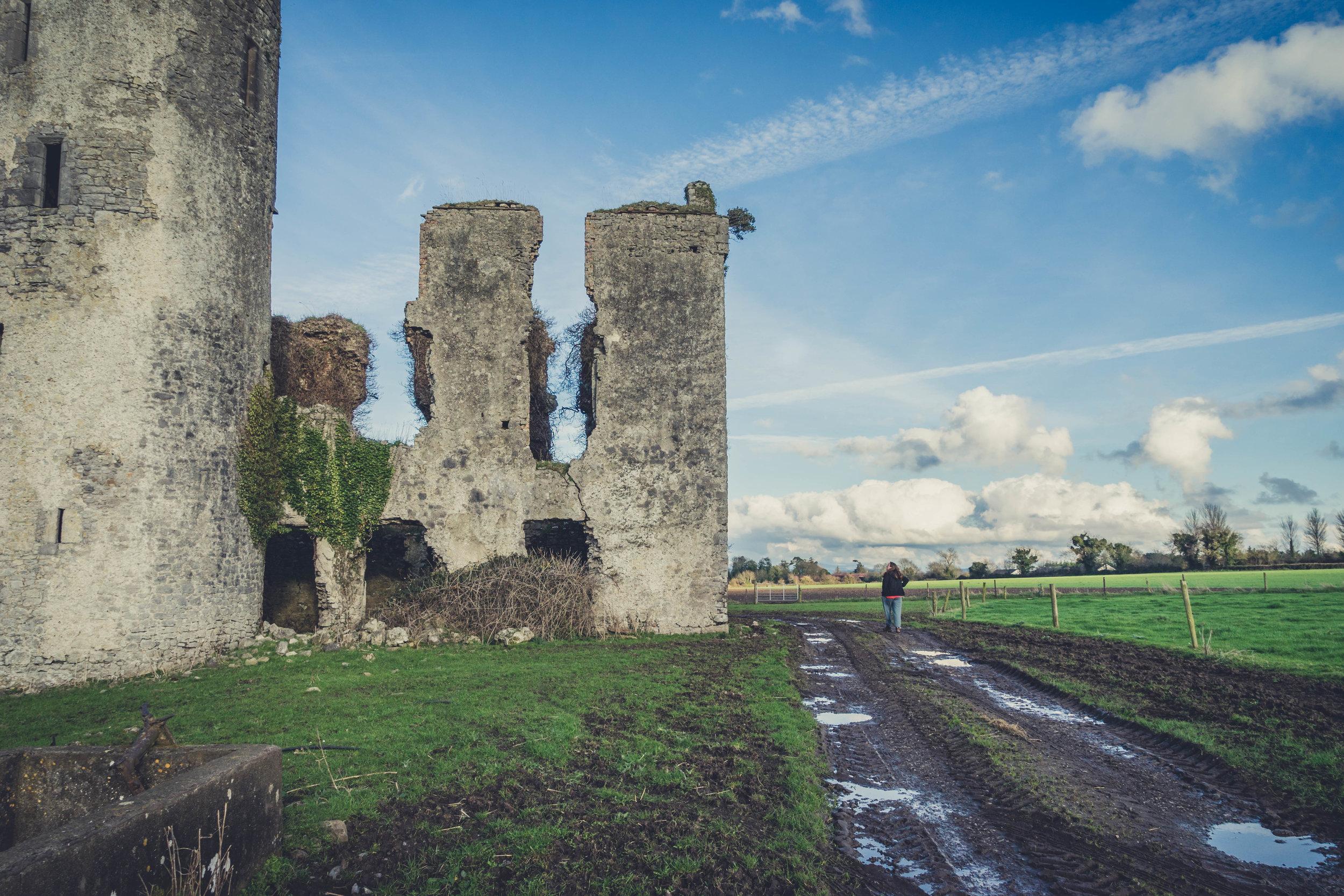 Ireland. Castle. Old castle. irish history. history. Rock of Dunamase. blue sky. rock. pathway. adventure. travel. irish counrty. Ballyadams castle.  castle walls.jpg