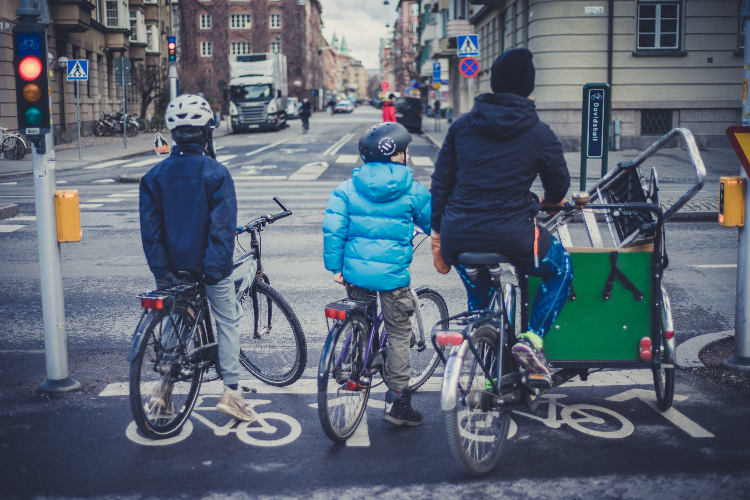 Safe cycling in Malmo, Sweden