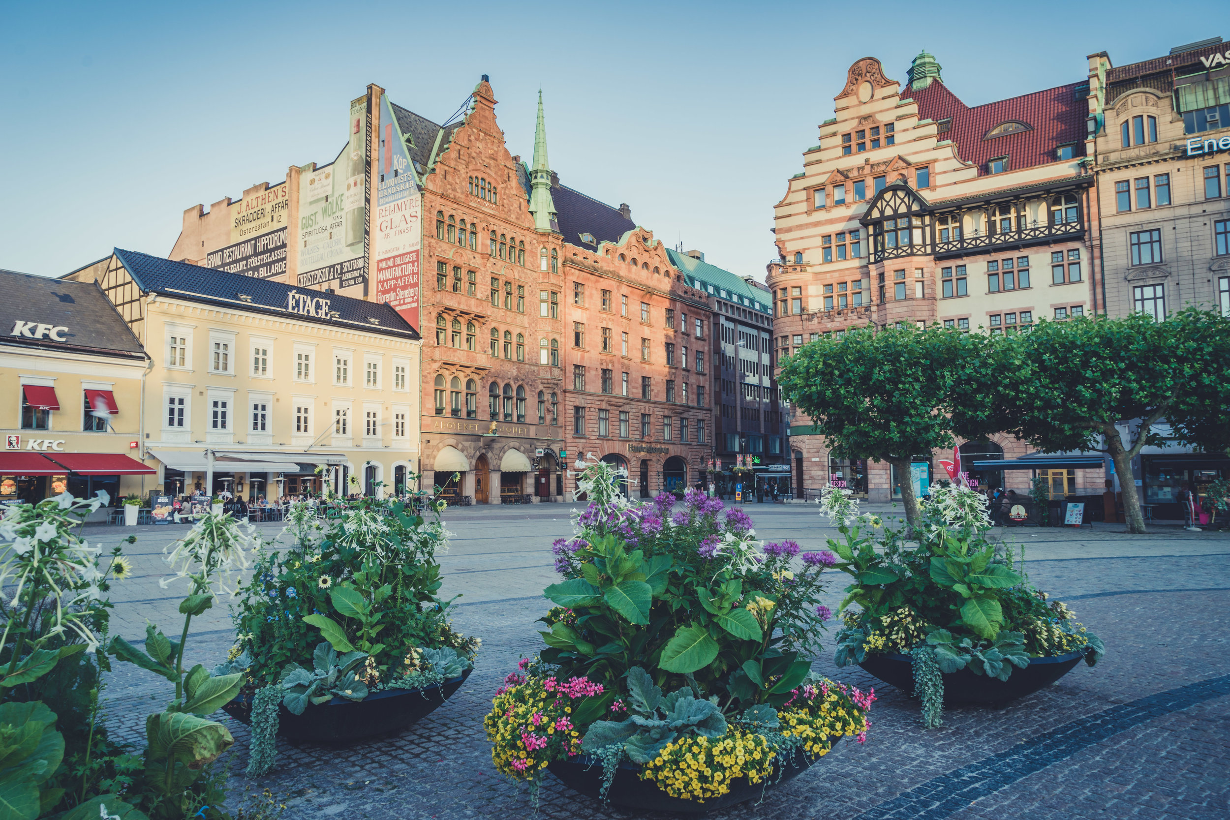 malmo. sweden. travel. scandinavia. history. viking. city. old. travel blog. palace. old town square palace. old buildings and flowers.jpg