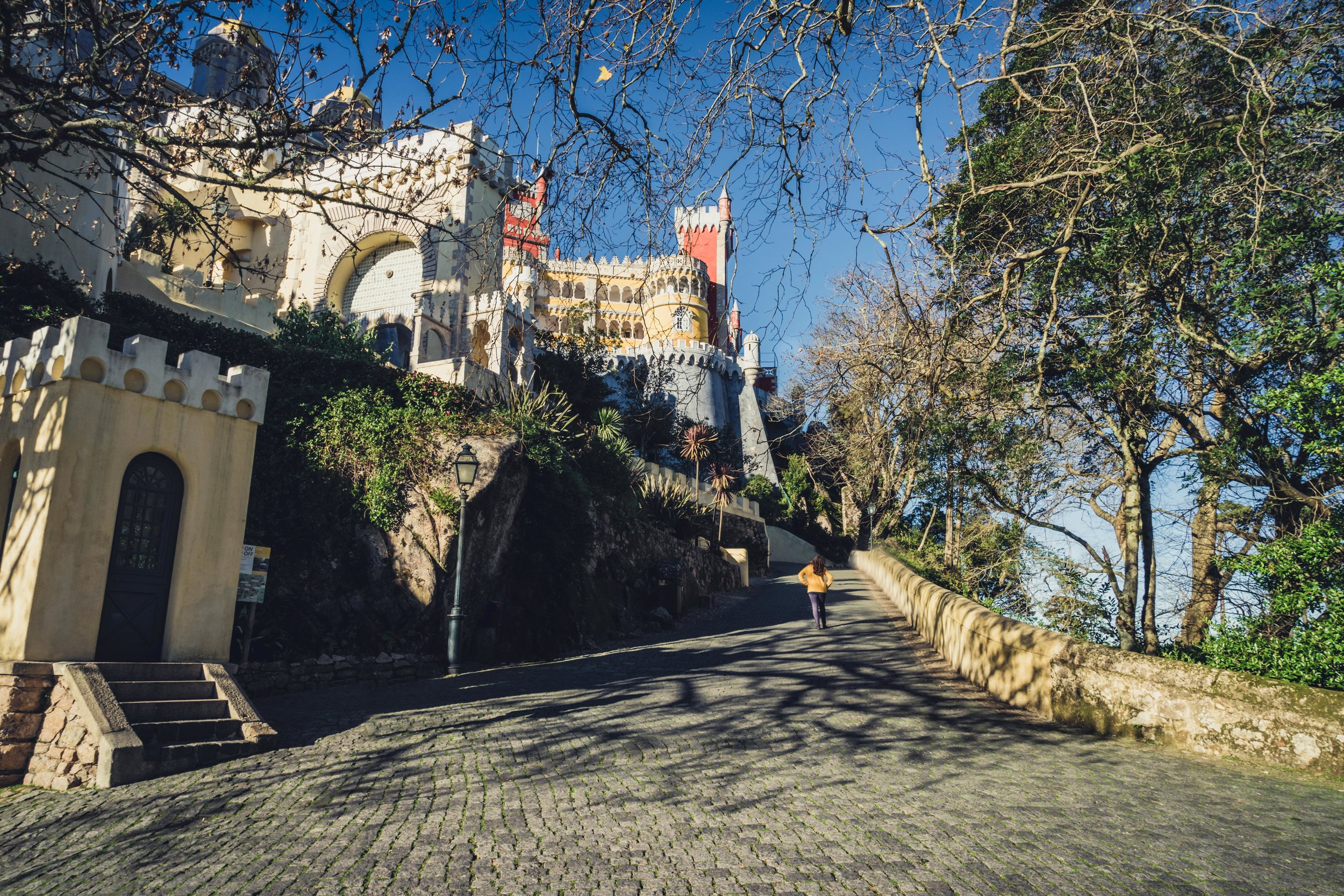 Portugal. Travel. Sintra. Sunshine. Hotel. History. view. room with a view. pena palace.  palace. town. old town. castle. castelo dos mouros walkng up.jpg