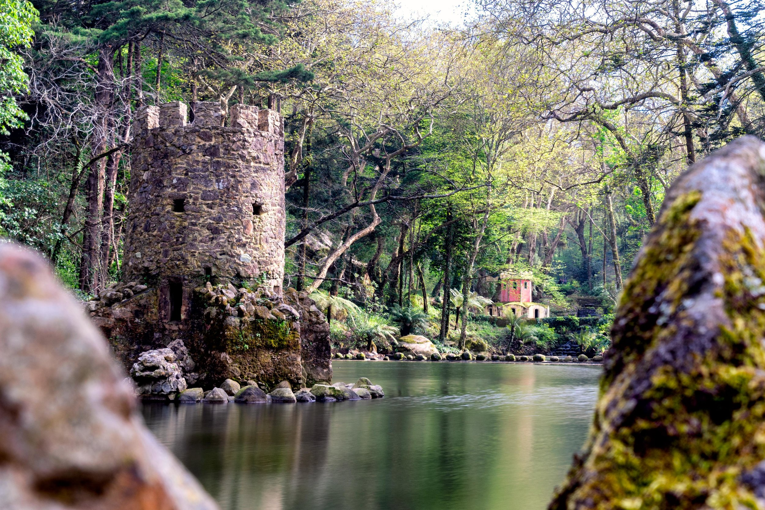 Portugal. Travel. Sintra. Sunshine. Hotel. History. view. room with a view. pena palace.  palace. town. old town. castle. castelo dos mouros. on the bridge. Convent of the Capuchos. lake.jpg