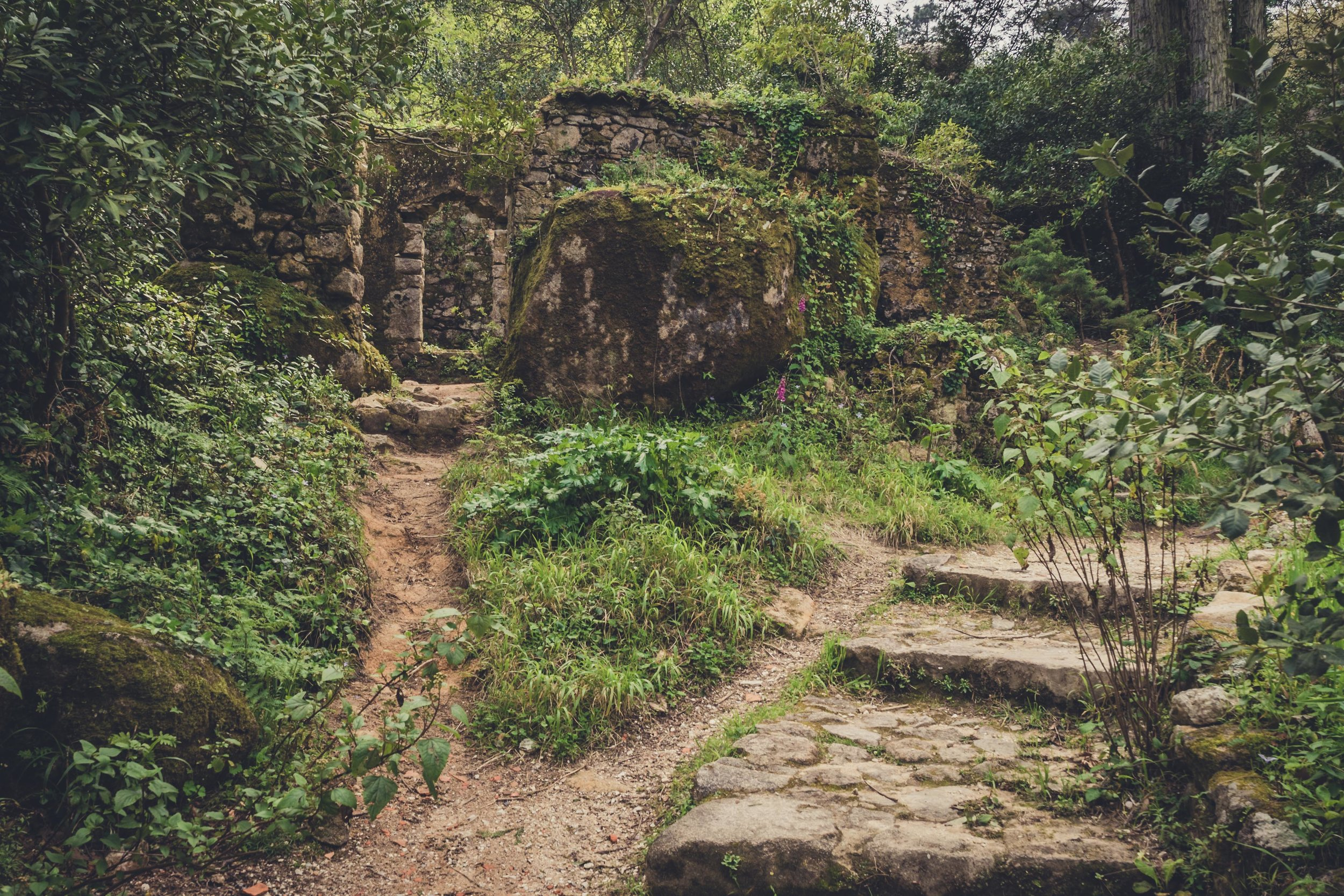 Portugal. Travel. Sintra. Sunshine. Hotel. History. view. room with a view. pena palace.  palace. town. old town. castle. castelo dos mouros. on the bridge. Convent of the Capuchos. little door.jpg