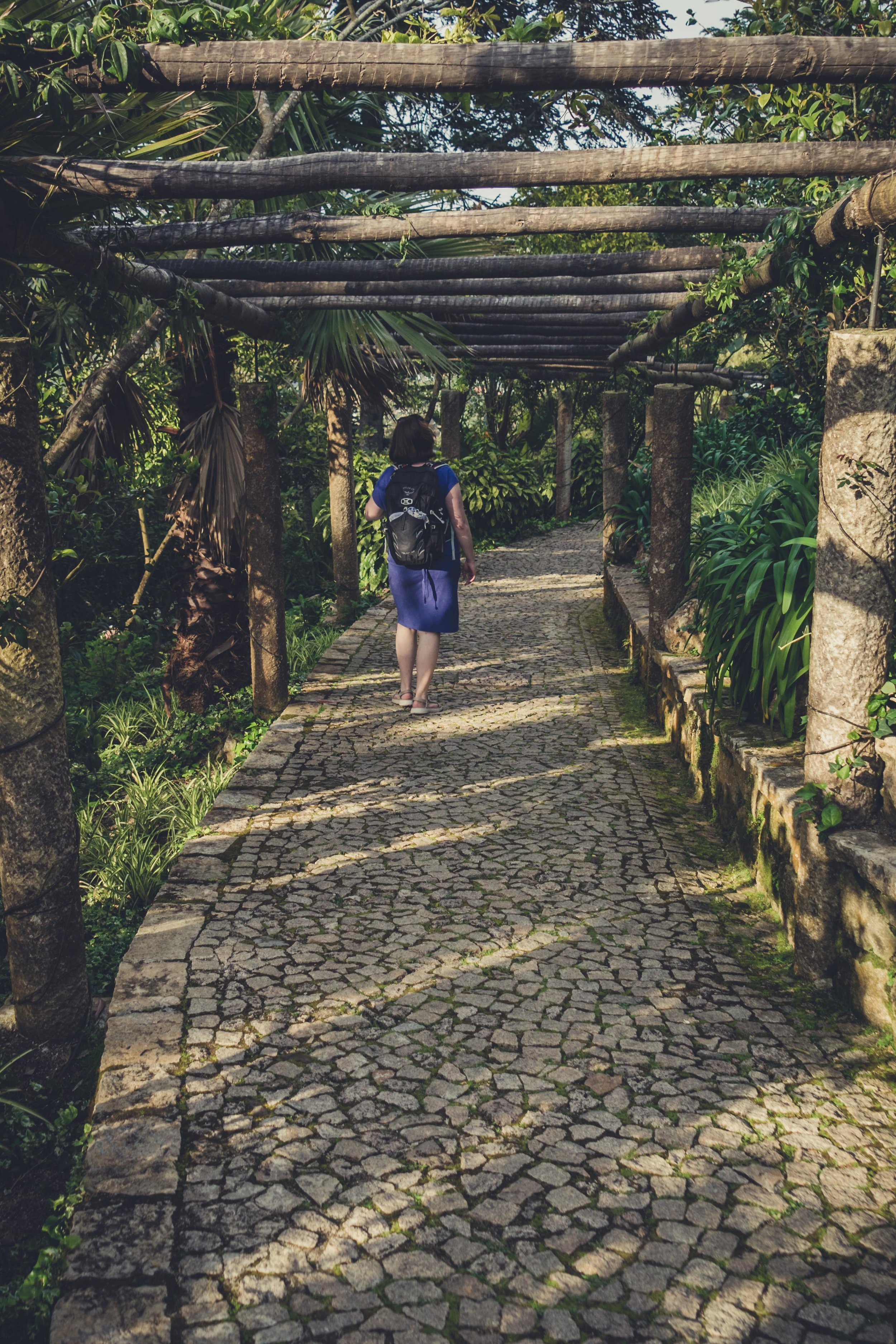 Portugal. Travel. Sintra. Sunshine. Hotel. History. view. room with a view. pena palace.  palace. town. old town. castle. castelo dos mouros. on the bridge. Convent of the Capuchos. walking down.jpg