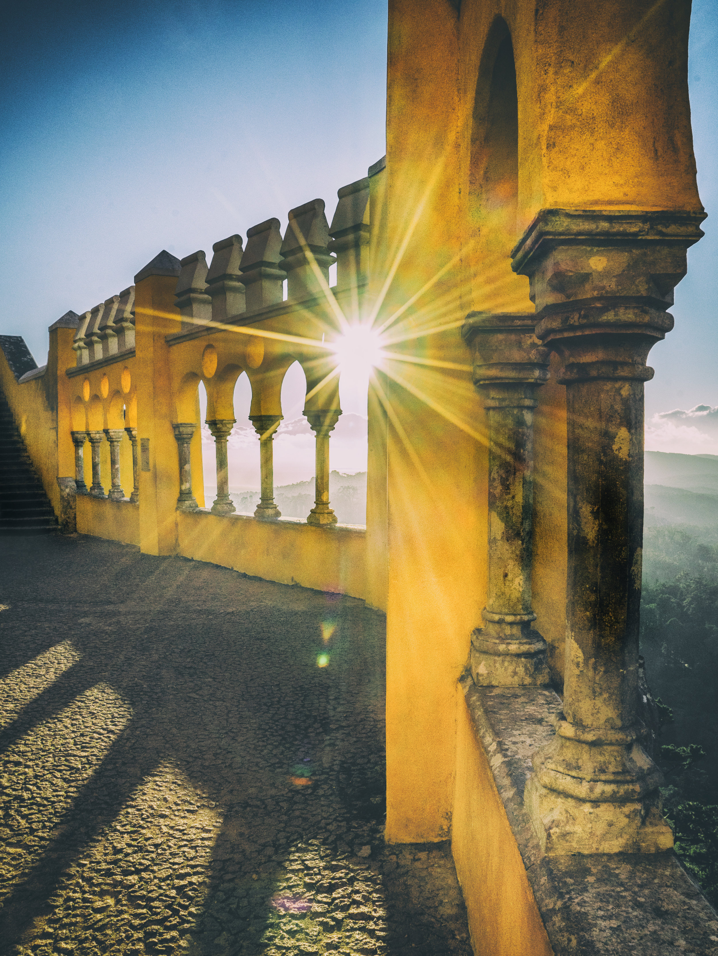 Portugal. Travel. Sintra. Sunshine. Hotel. History. view. room with a view. pena palace.  palace. town. old town. castle. castelo dos mouros. sunlight..jpg