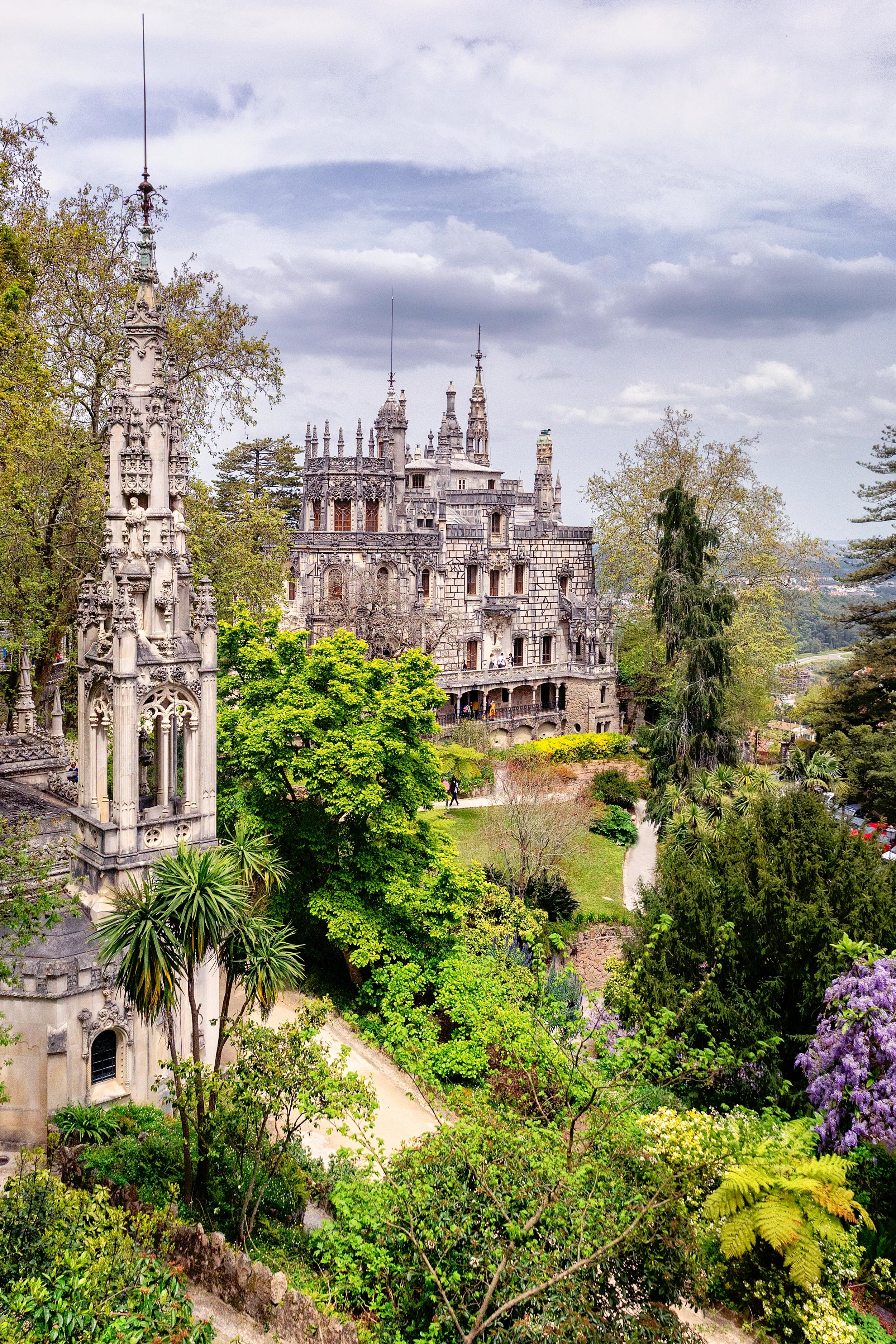 Portugal. Travel. Sintra. Sunshine. Hotel. History. view. room with a view. pena palace.  palace. town. old town. castle. castelo dos mouros. on the bridge. Quinta da Regaleira (2).jpg