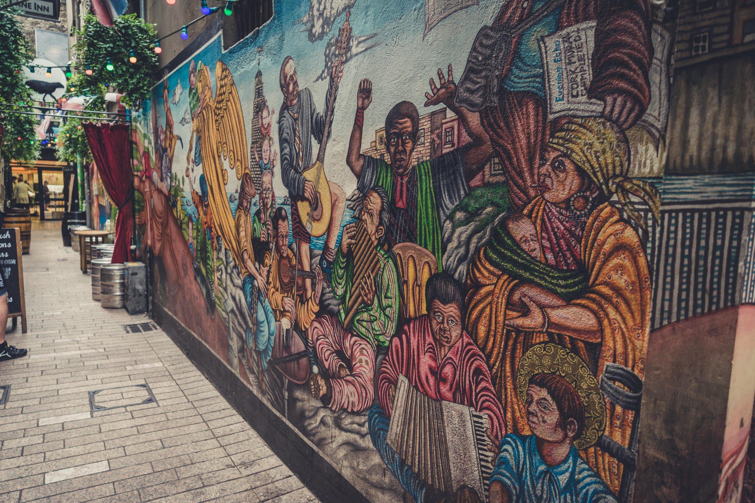 county cork. cork. ireland. irish. history. city. house sitting. old. travel. travel photography. travel photographer.  wall art on the walls.jpg