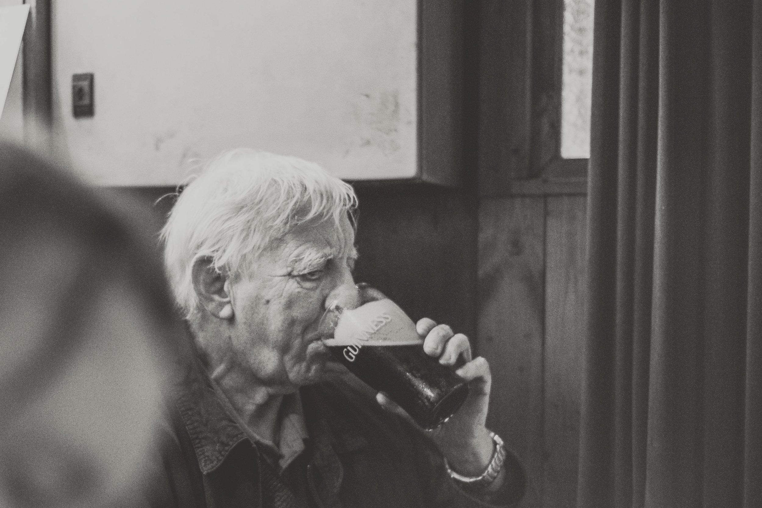county cork. cork. ireland. irish. history. city. house sitting. old. travel. travel photography. travel photographer. lough hyne. hiking. outdoor. adventure. old man drinking pint..jpg