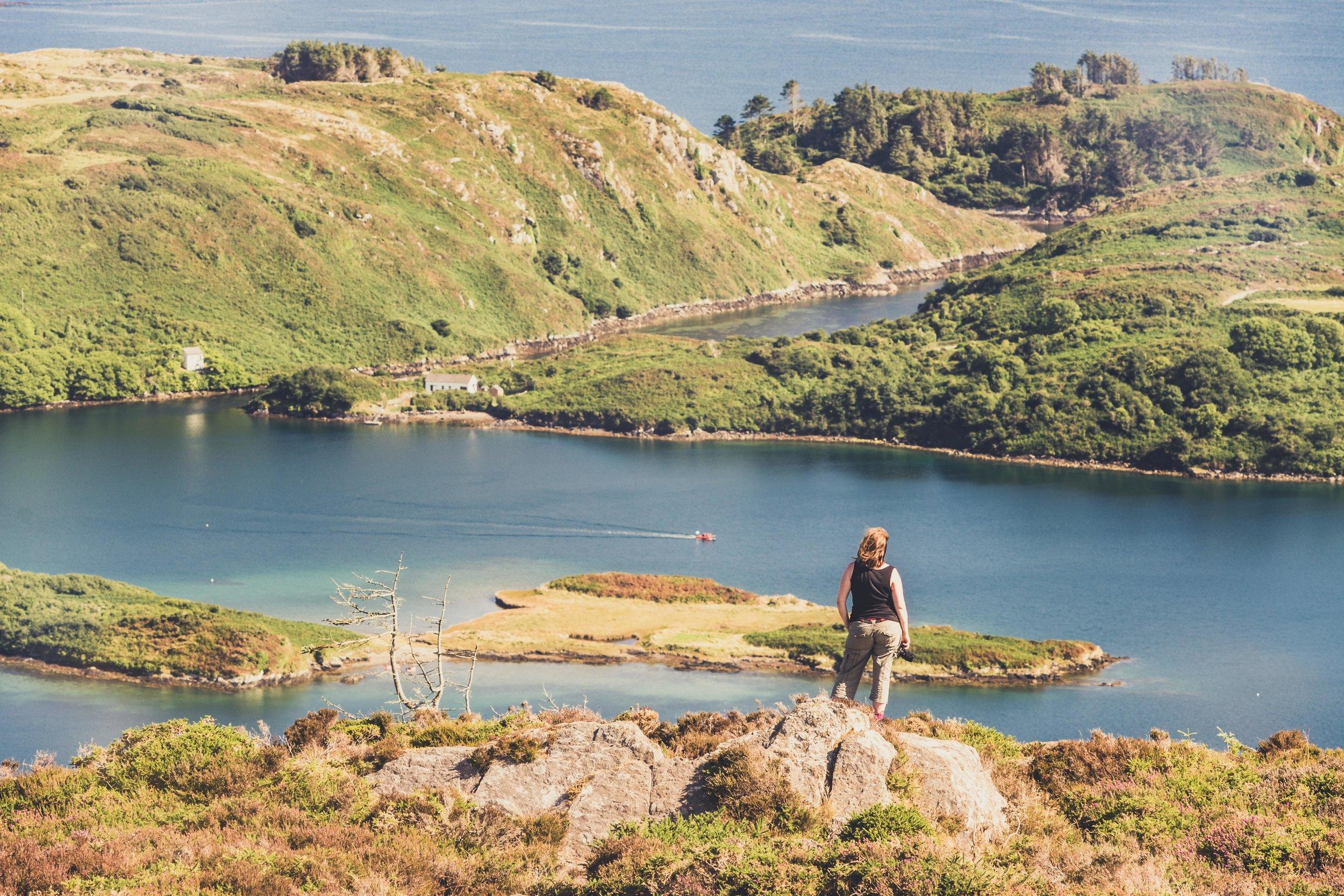 county cork. cork. ireland. irish. history. city. house sitting. old. travel. travel photography. travel photographer. lough hyne. hiking. outdoor. adventure. hiking. over looking the lake.jpg