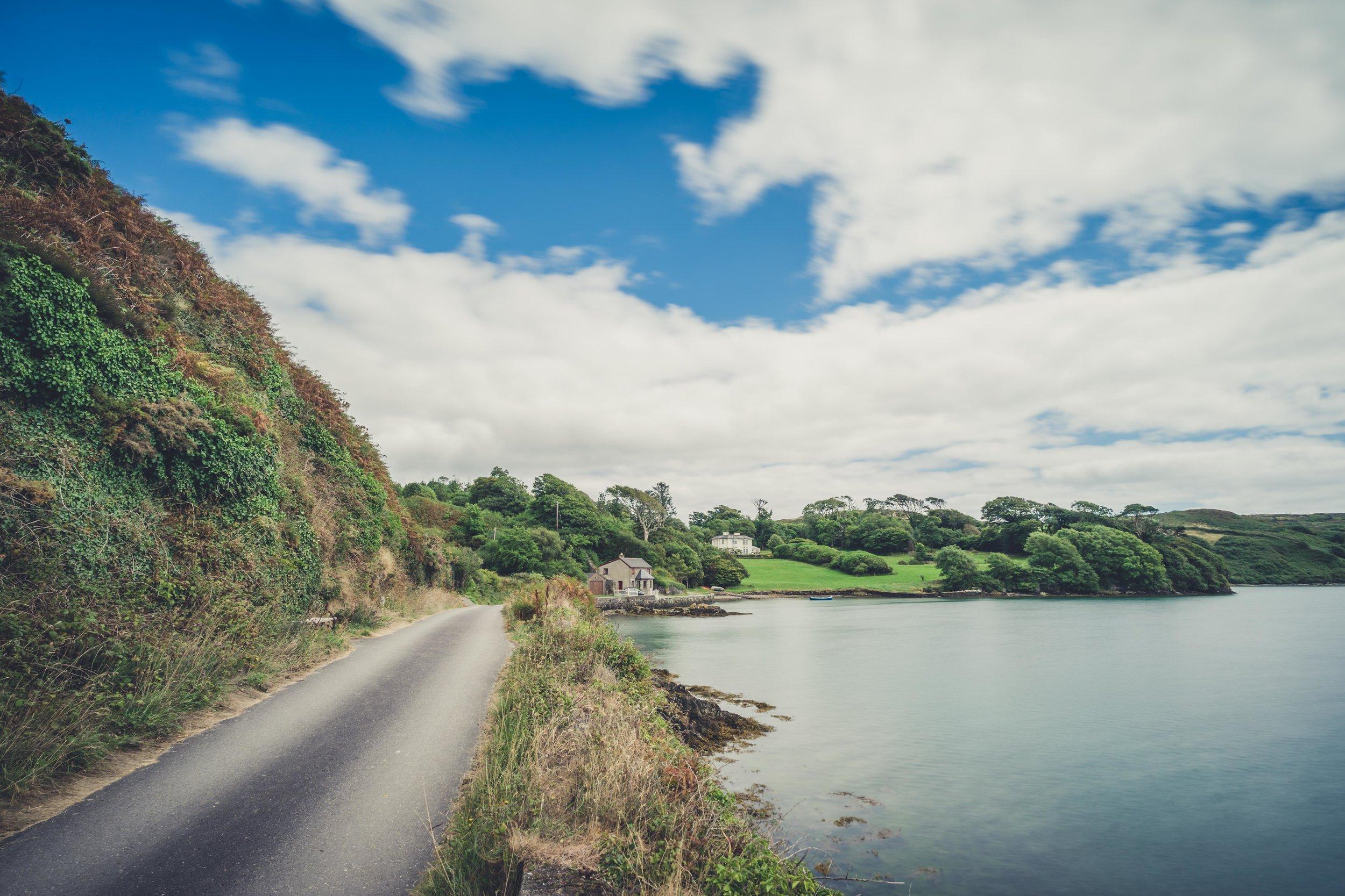 county cork. cork. ireland. irish. history. city. house sitting. old. travel. travel photography. travel photographer. lough hyne. hiking. outdoor. adventure. hiking. road to house.jpg