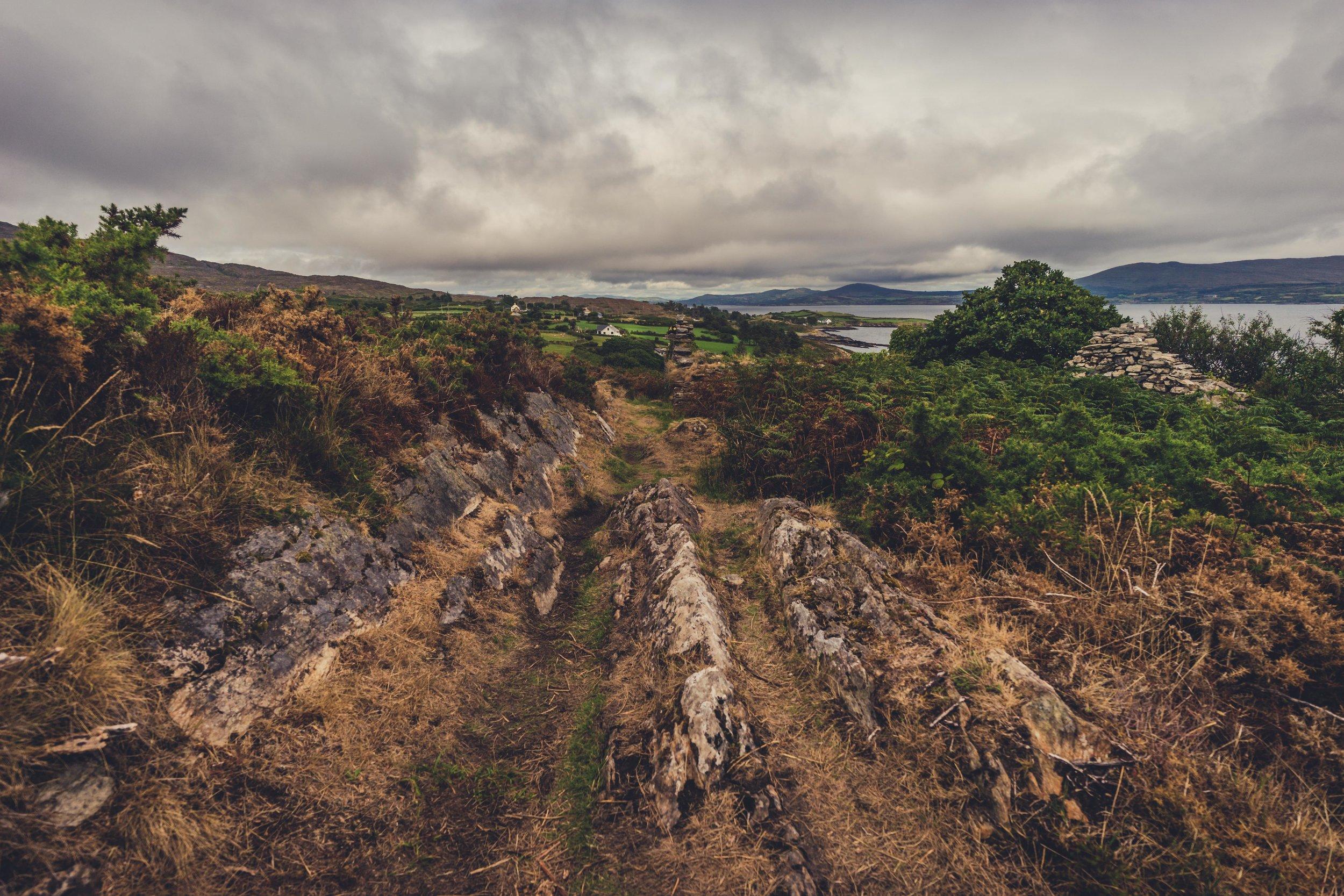 county cork. cork. ireland. irish. history. city. house sitting. old. travel. travel photography. travel photographer. lough hyne. hiking. outdoor. adventure. hiking. camping. stormy weather.jpg