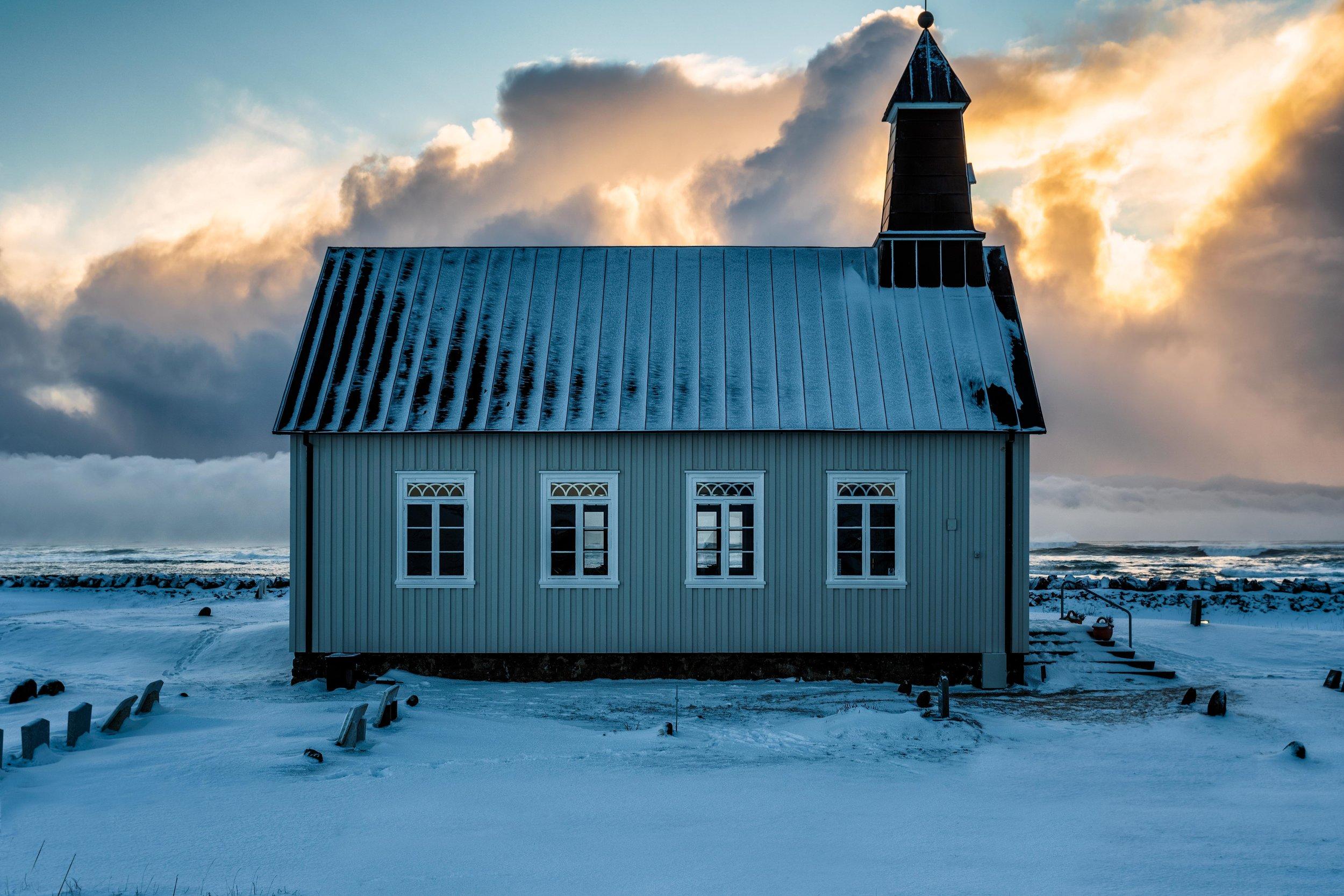 Iceland. snow. travel. adventure. photography. trip. epic landscape. snow. cold. freezing. sunrise. nothern lights. insagram church.jpg