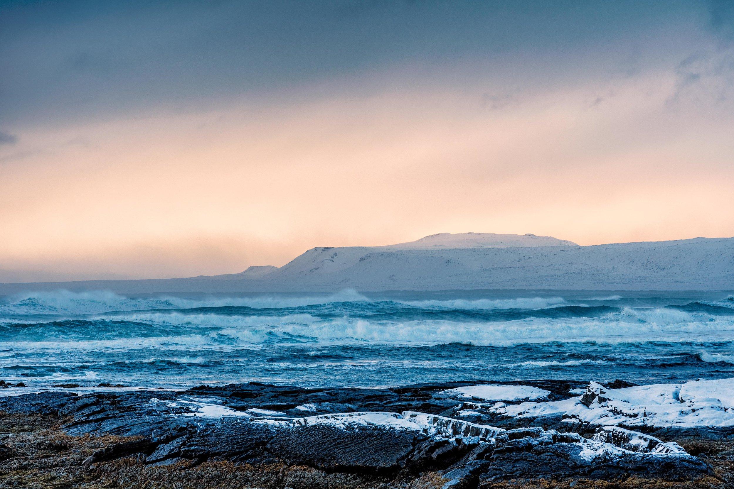 Iceland. snow. travel. adventure. photography. trip. epic landscape. snow. cold. freezing. sunrise. nothern lights. iceland seascape.jpg