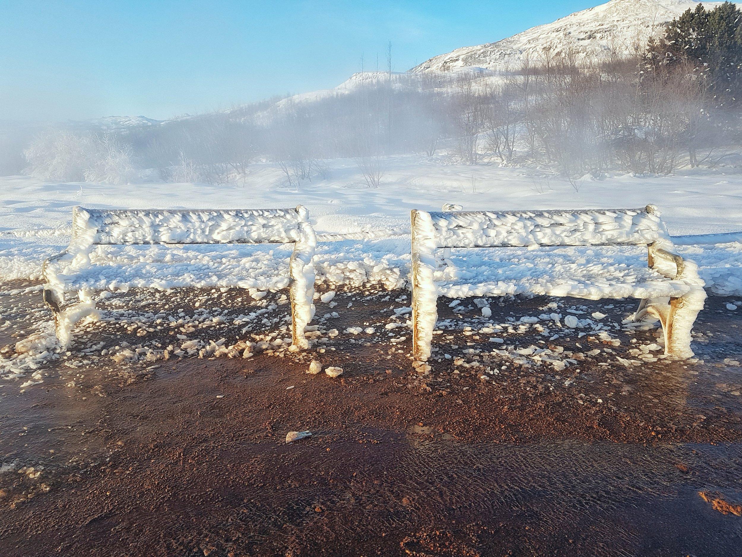 Iceland. snow. travel. adventure. photography. trip. epic landscape. snow. cold. freezing. sunrise. frozen chairs.jpg