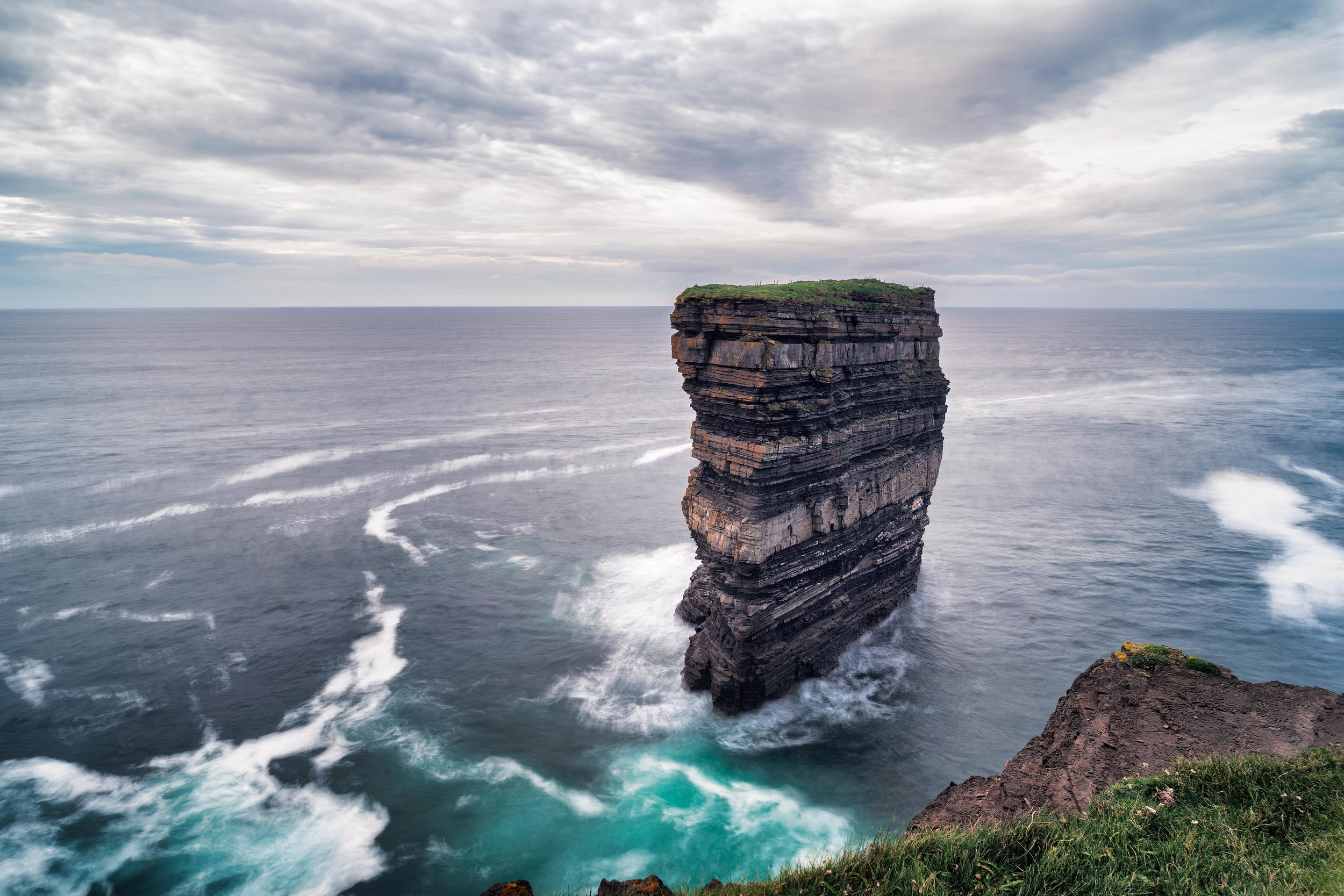 the mighty sea stack at down Patrick head