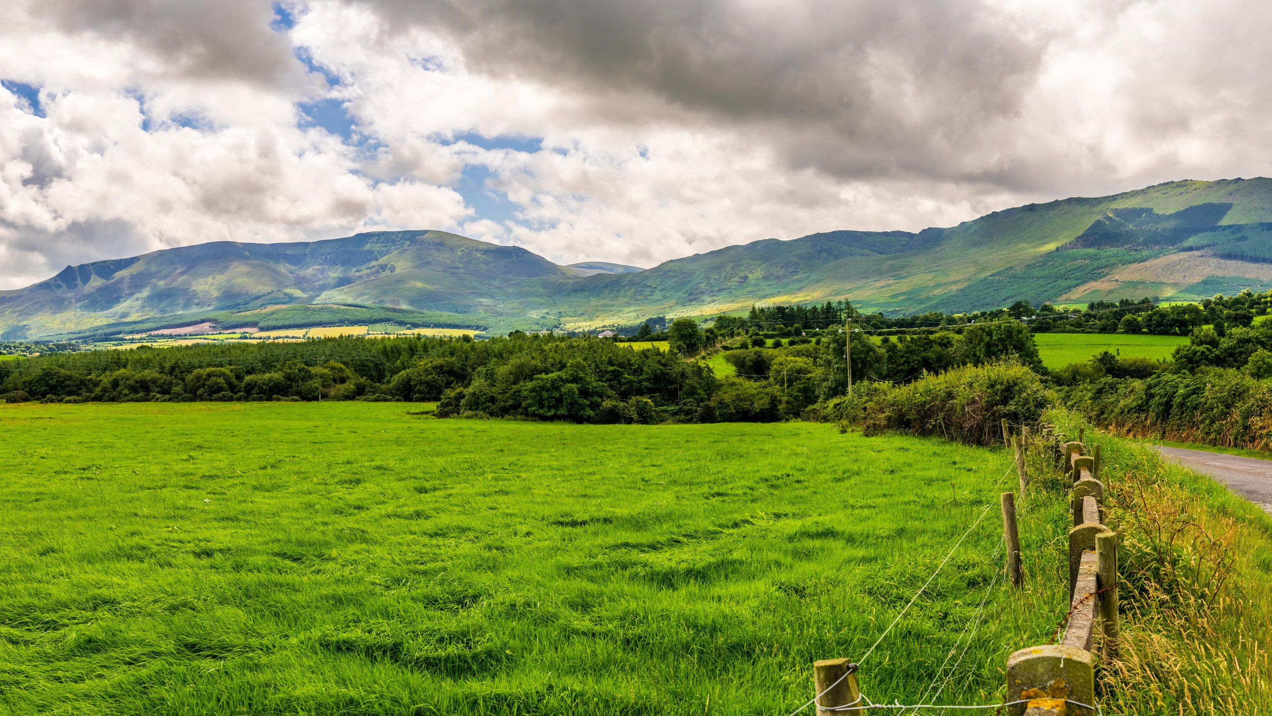 Panoramic of the Comeragh Mountains