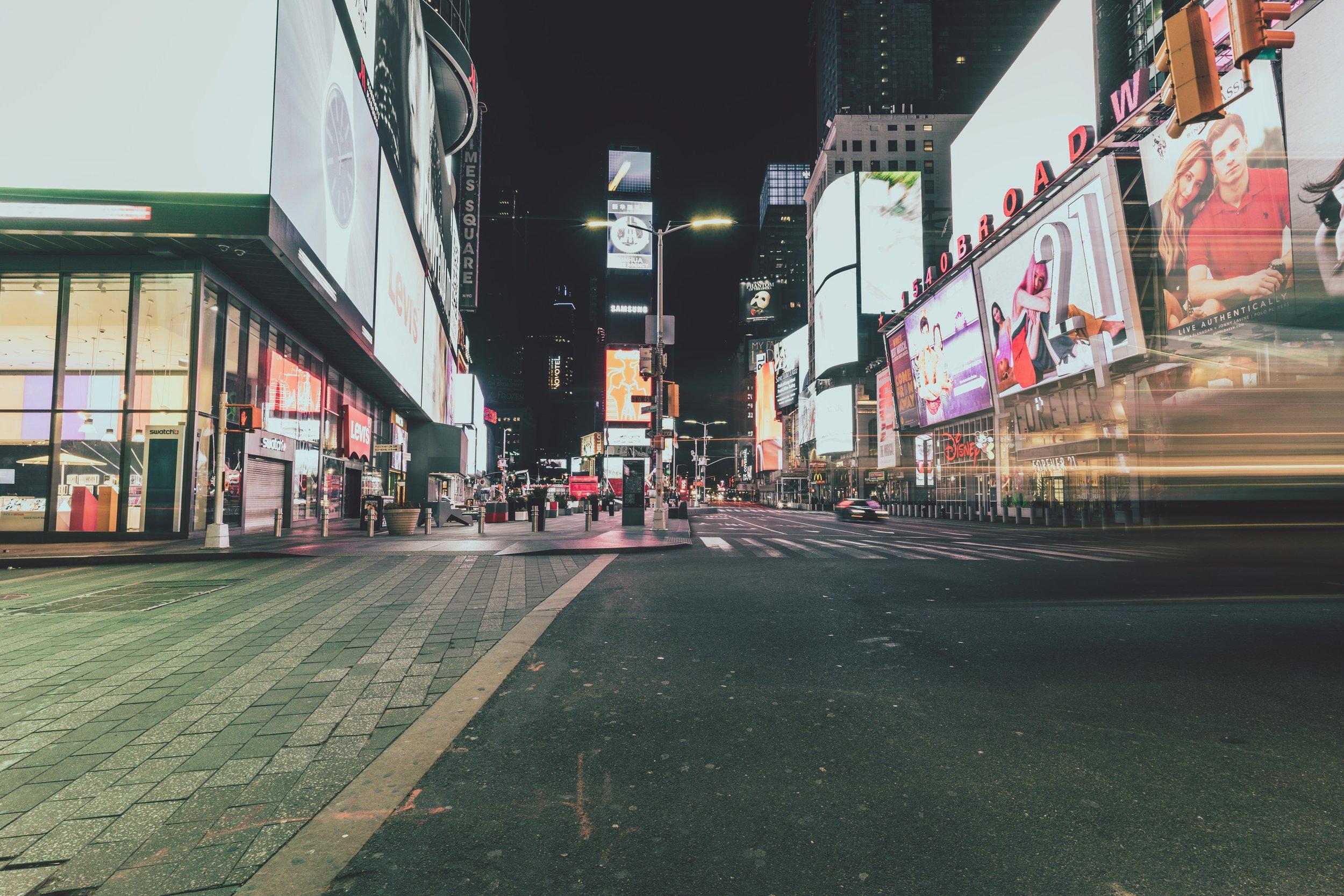 Empty times square new york city.jpg