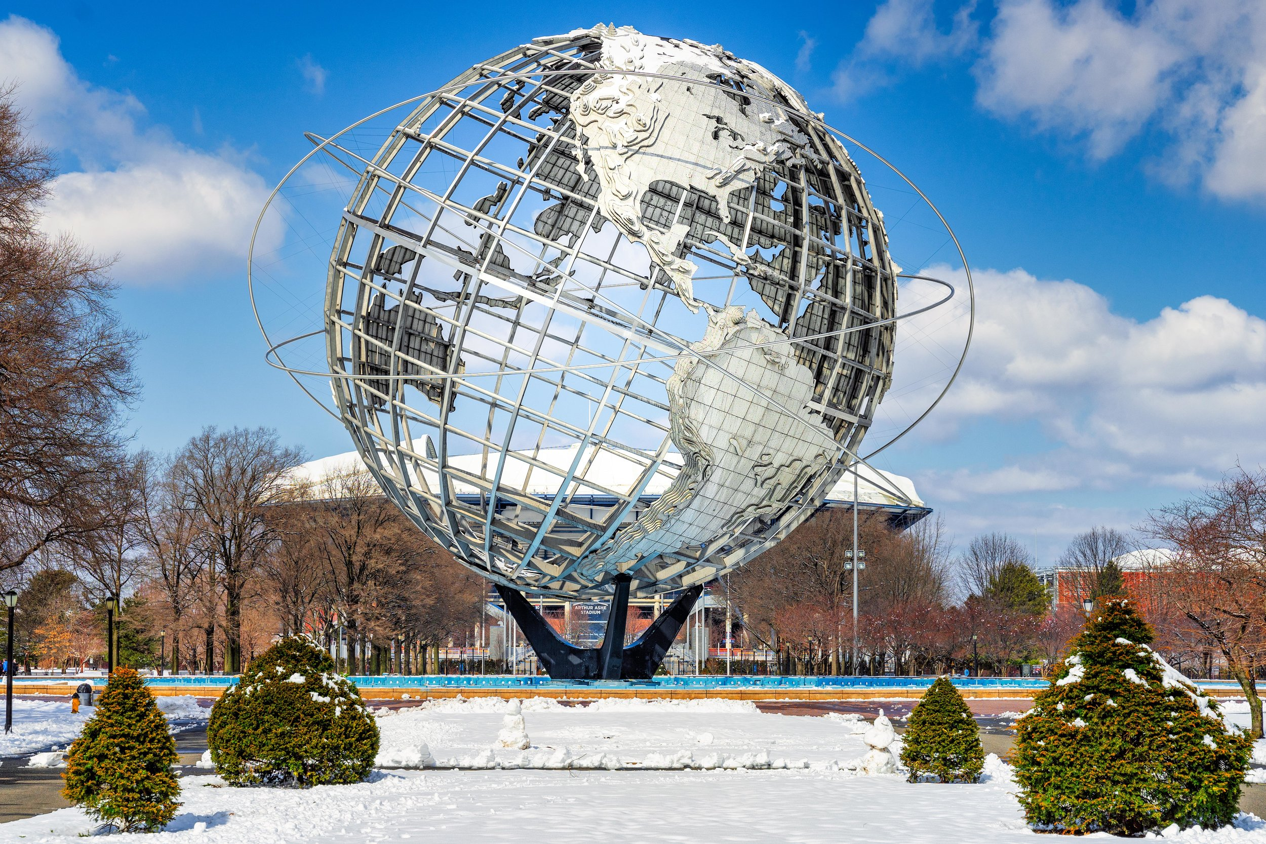Flushing meadows Worlds fair globe