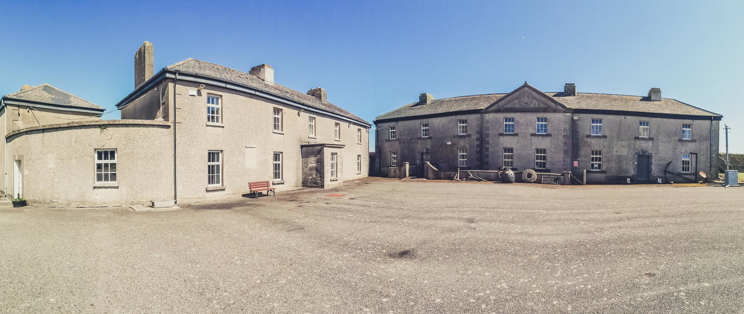 Duncannon Fort. Ireland courtyard and buildings.jpg