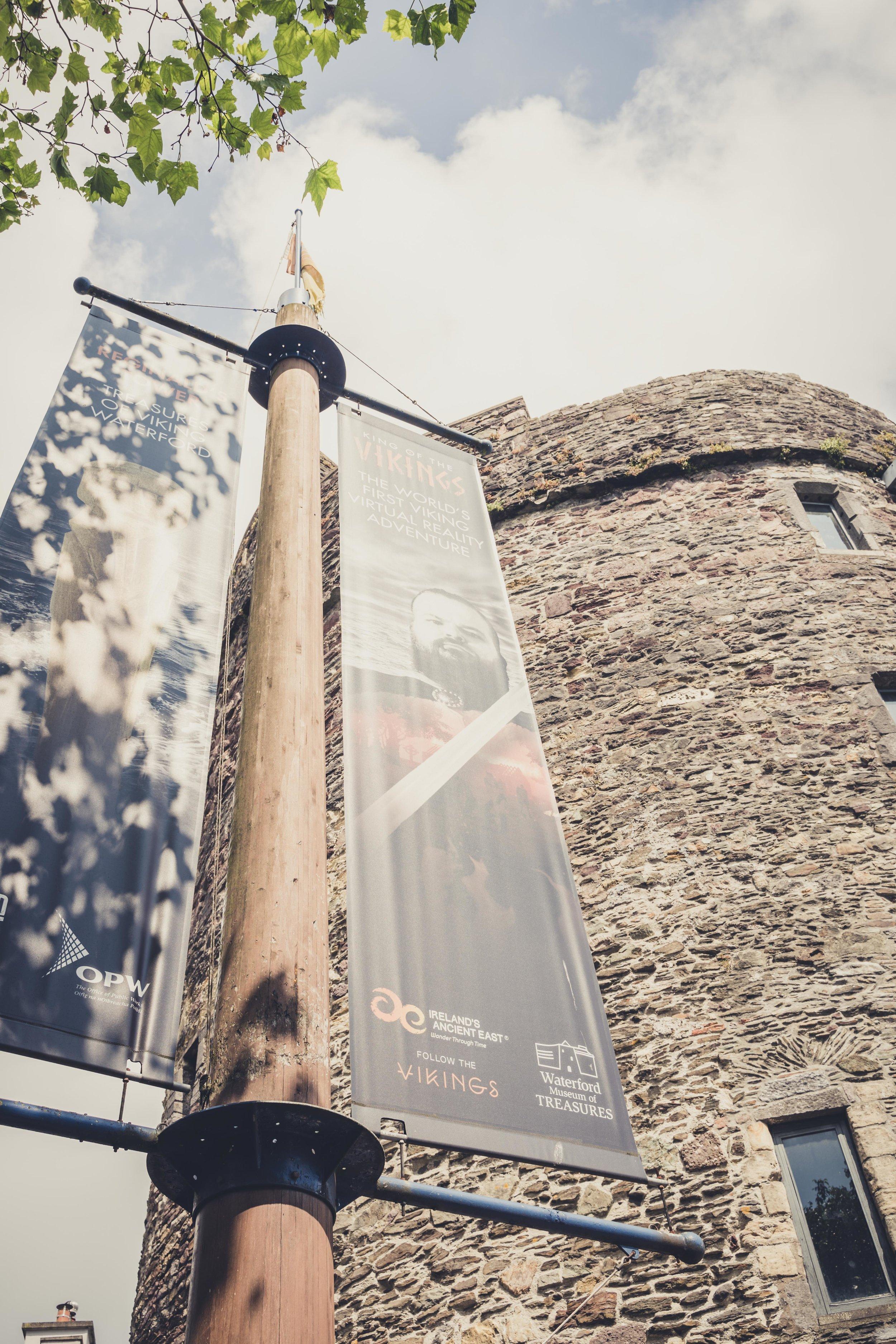 Reginald's Tower waterford ireland sign.jpg