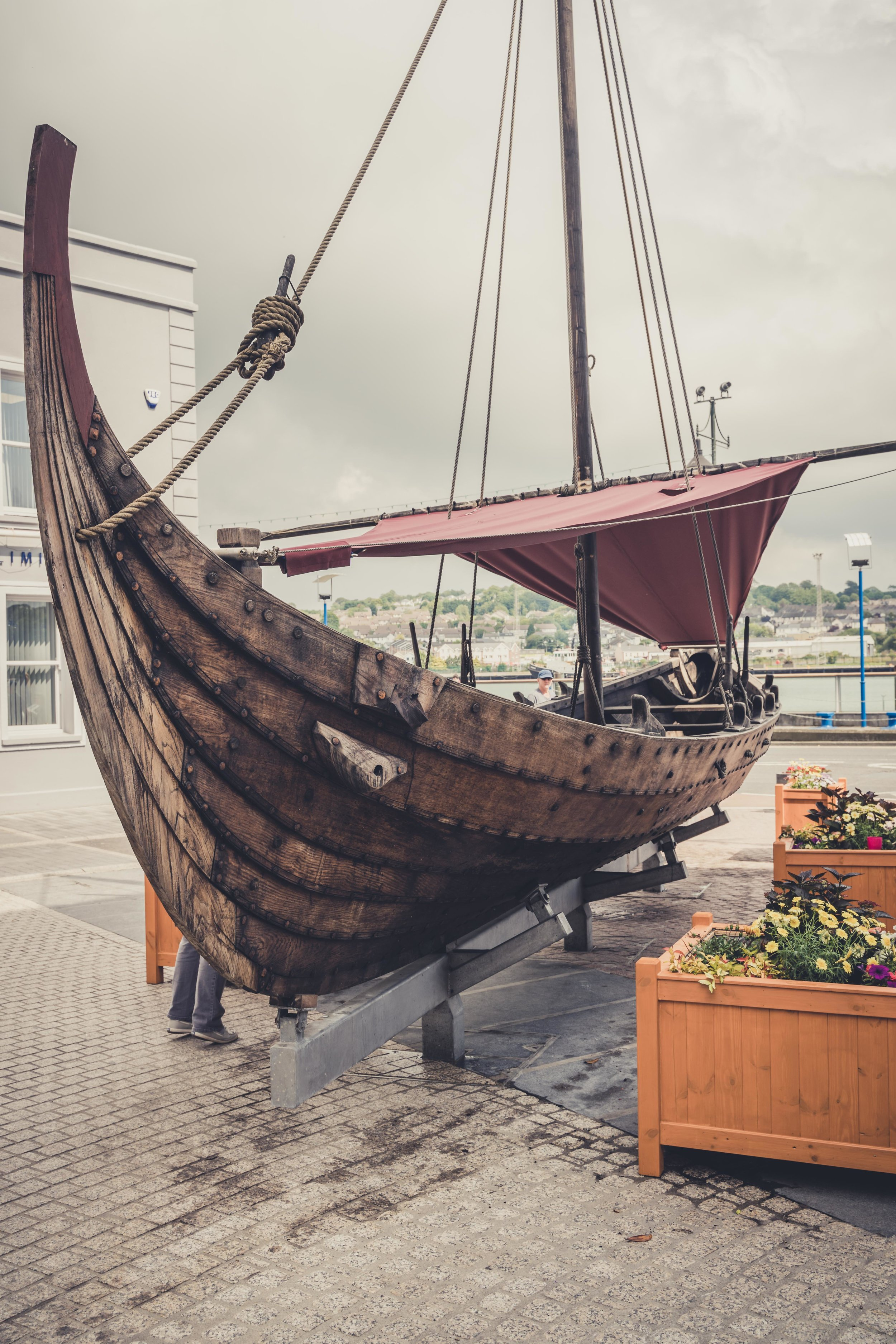 Reginald's Tower waterford ireland viking boat.jpg