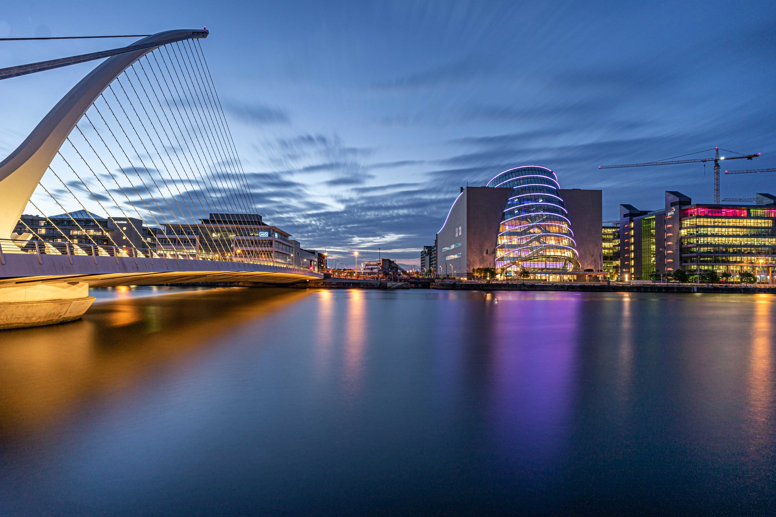 Travel photograph. City photography. Dublin city. River Liffey. .jpg