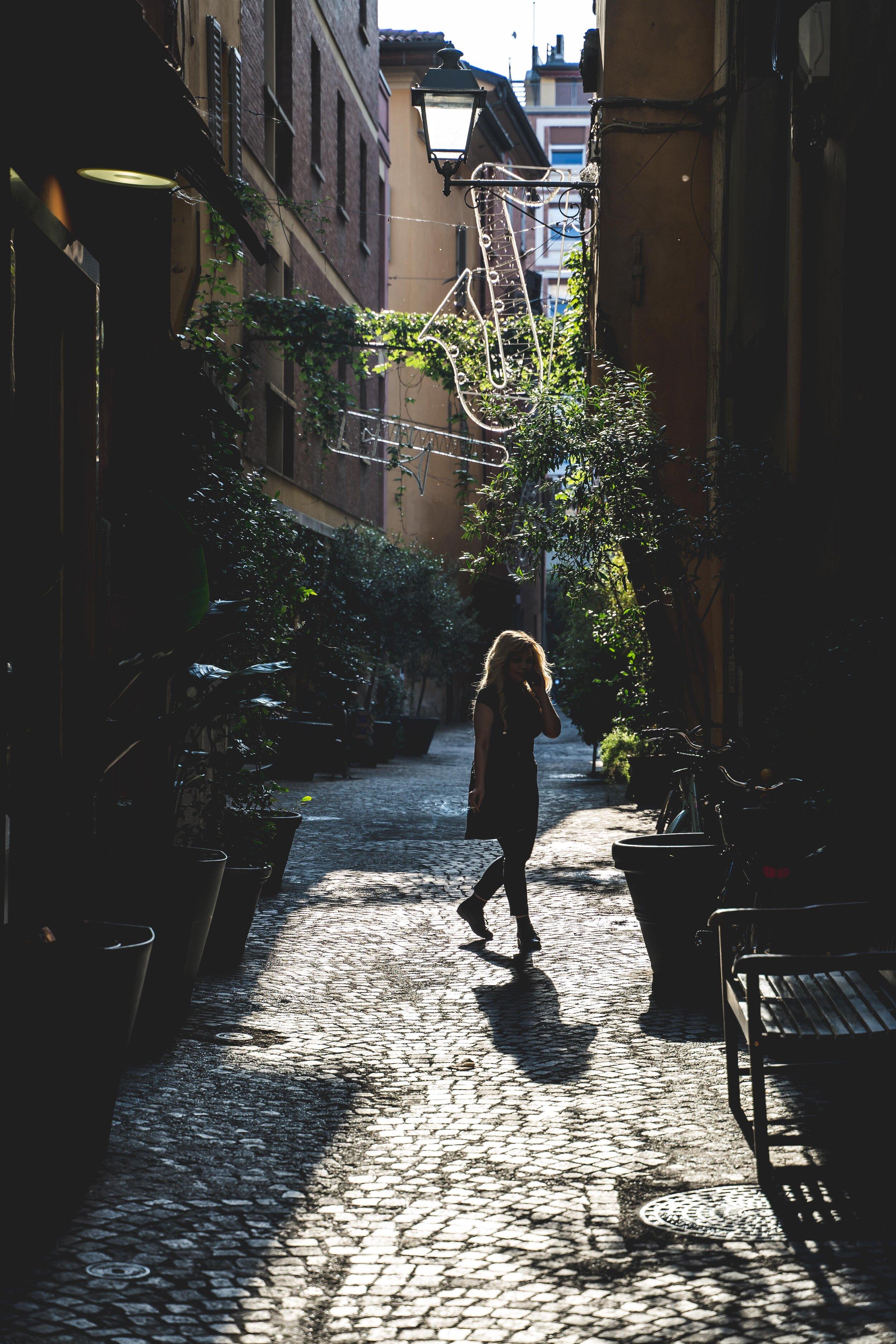 street photography in bologna girl smoking.jpg