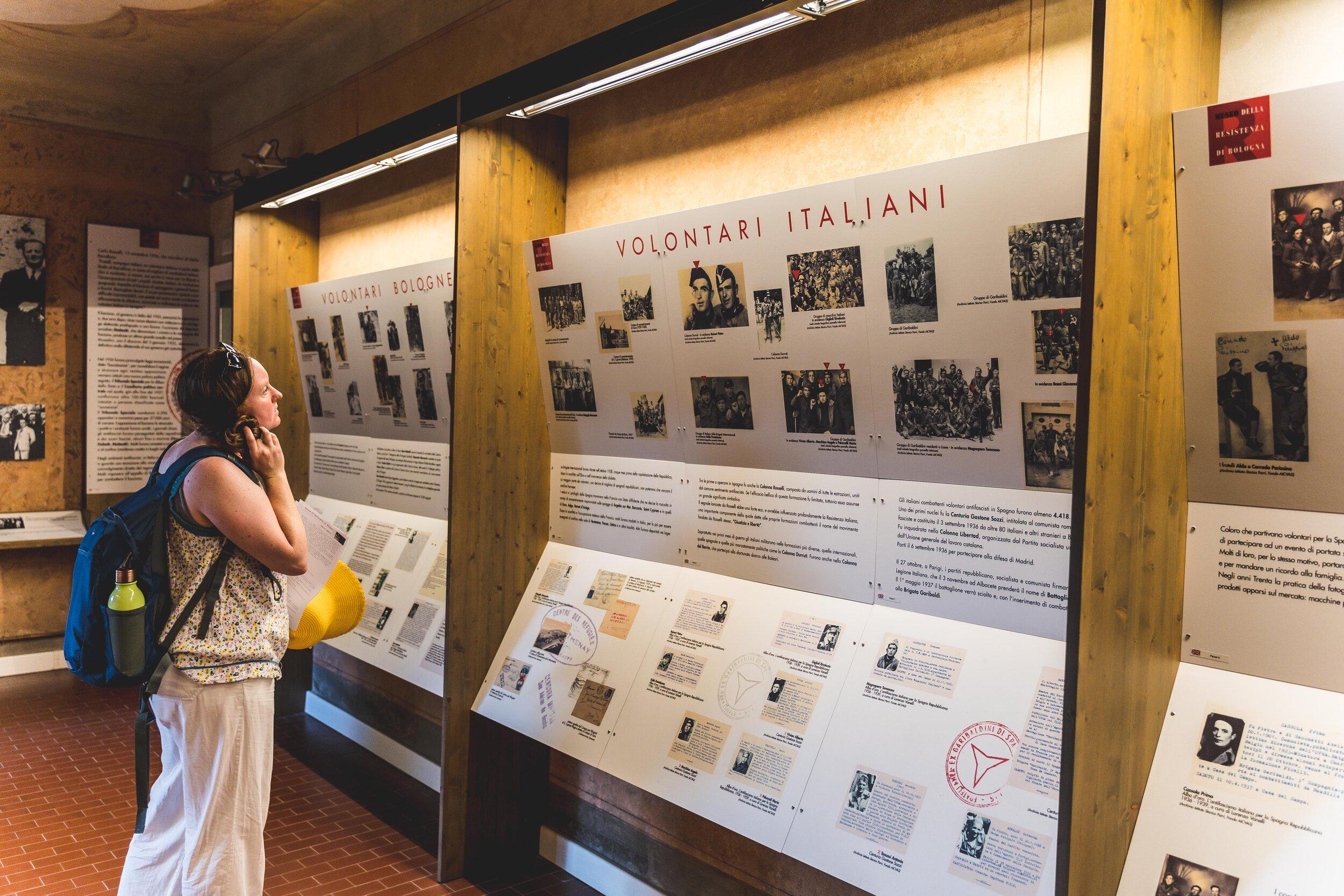 girl in Bologna Resistance Museum.jpg