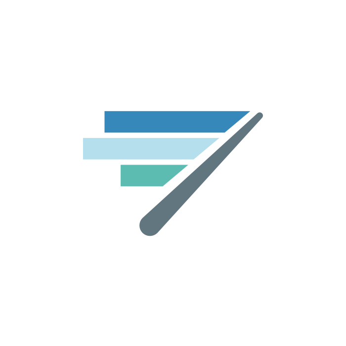 Our old logo, an abstraction of a dial in our Real-Time Dashboard UI.