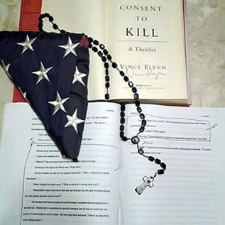 When we had the honor of doing Operation Rapp Pack with Vince Flynn and I then started The Harvath Directive with his blessing and support, he sent me this gift:an autographed copy of Consent to Kill and a Manuscript with corrections of Consent to Kill.   Honor rendered my friend!!! - Carlos