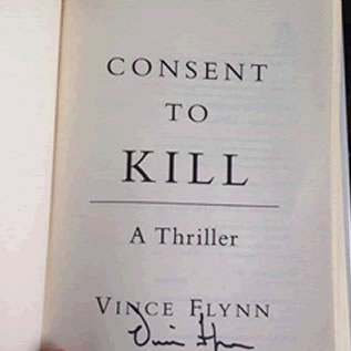 This just came in the mail today. I bought it from a bookstore in St Paul Minnesota, it was signed by Vince Flynn in 2005.   This is immediately one of my most prized possessions, and on display in my home. What a treasure!  I never ever read a book, ever. Someone suggested for me to read Flynn's work, and I decided to give it a go. That was last year, just before he passed away.   I began reading his Mitch Rapp series in chronological order and was absolutely hooked from the first chapter, of the first book. His books were the reason I joined the local library, and I breezed through them in a mater of a couple months.   Vince Flynn is absolutely the gold standard in this genre, there is nobody that compares, and believe me, I've been looking. Other authors are good, and other characters are interesting. But nothing compares to the team of Flynn and Rapp.   I miss Mitch Rapp very much, and I'm so sorry to Flynn's family that he was taken form this earth far too soon! Thanks for all the great stories Flynn, thank you.   I'll treasure this signed book forever. In my humble opinion, it's signed by the greatest author of my generation.   Rest in peace, Vince.  - Ryan S.