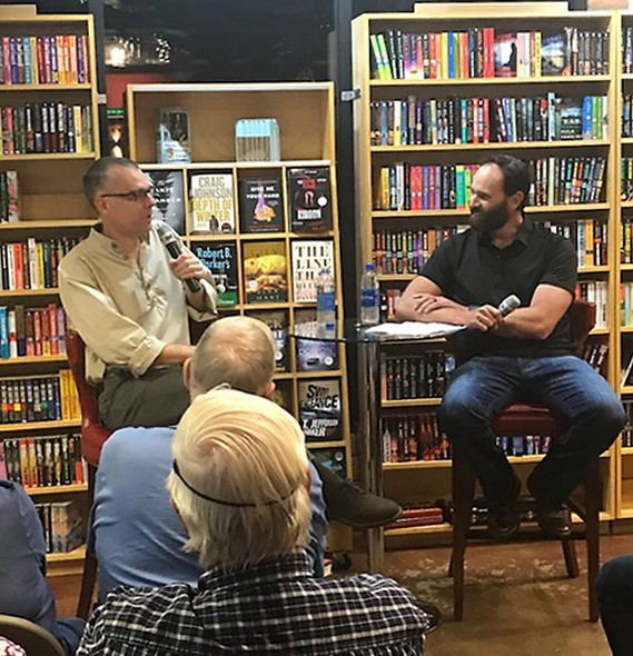 A lively evening at Poisoned Pen with Jack Carr (author of The Terminal List) and lots of fans. Photo: @poisonedpen