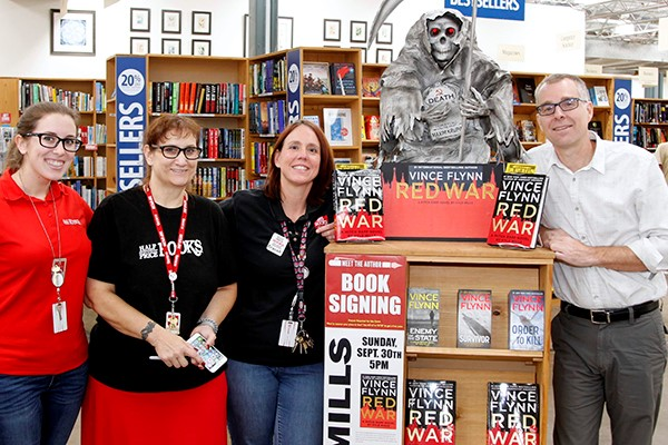 Half Price Books, Dallas staff with their amazing display. Photo: Rod Gregg